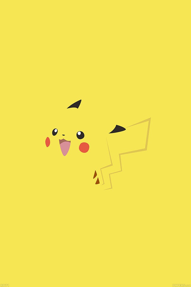Ab71 Wallpaper Pikachu Yellow Anime Papers Co