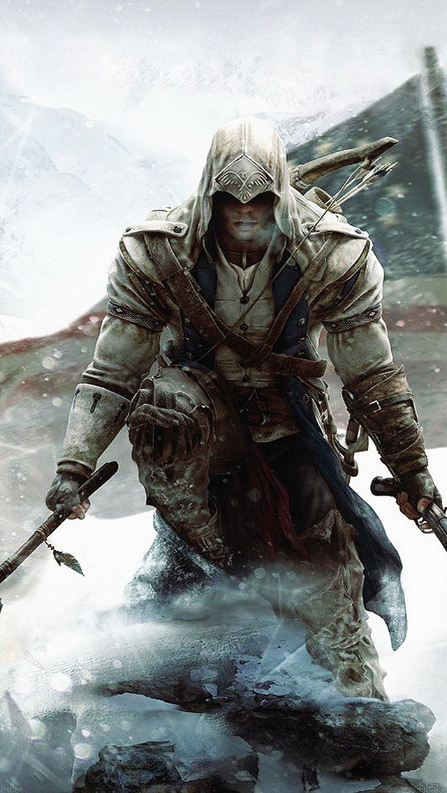 freeios8.com-iphone-4-5-6-ipad-ios8-ab84-wallpaper-assasines-creed-unity-snow-game
