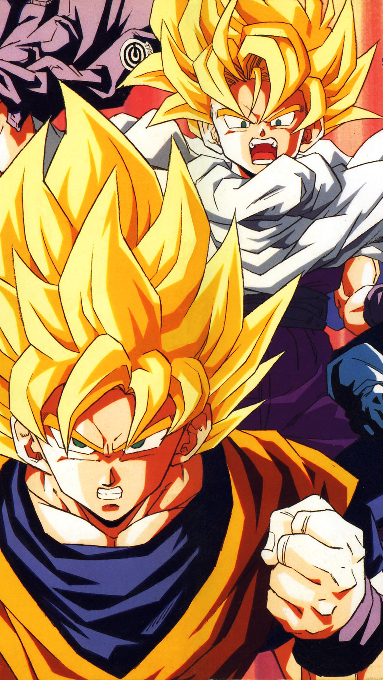 iphone6papers - ab92-wallpaper-dragonball-z-goku-fire-anime