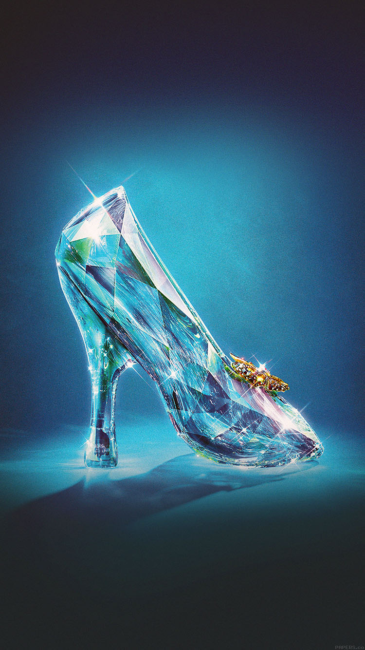iPhonepapers.com-Apple-iPhone8-wallpaper-ac04-wallpaper-cinderella-glass-slipper-shoes-illust
