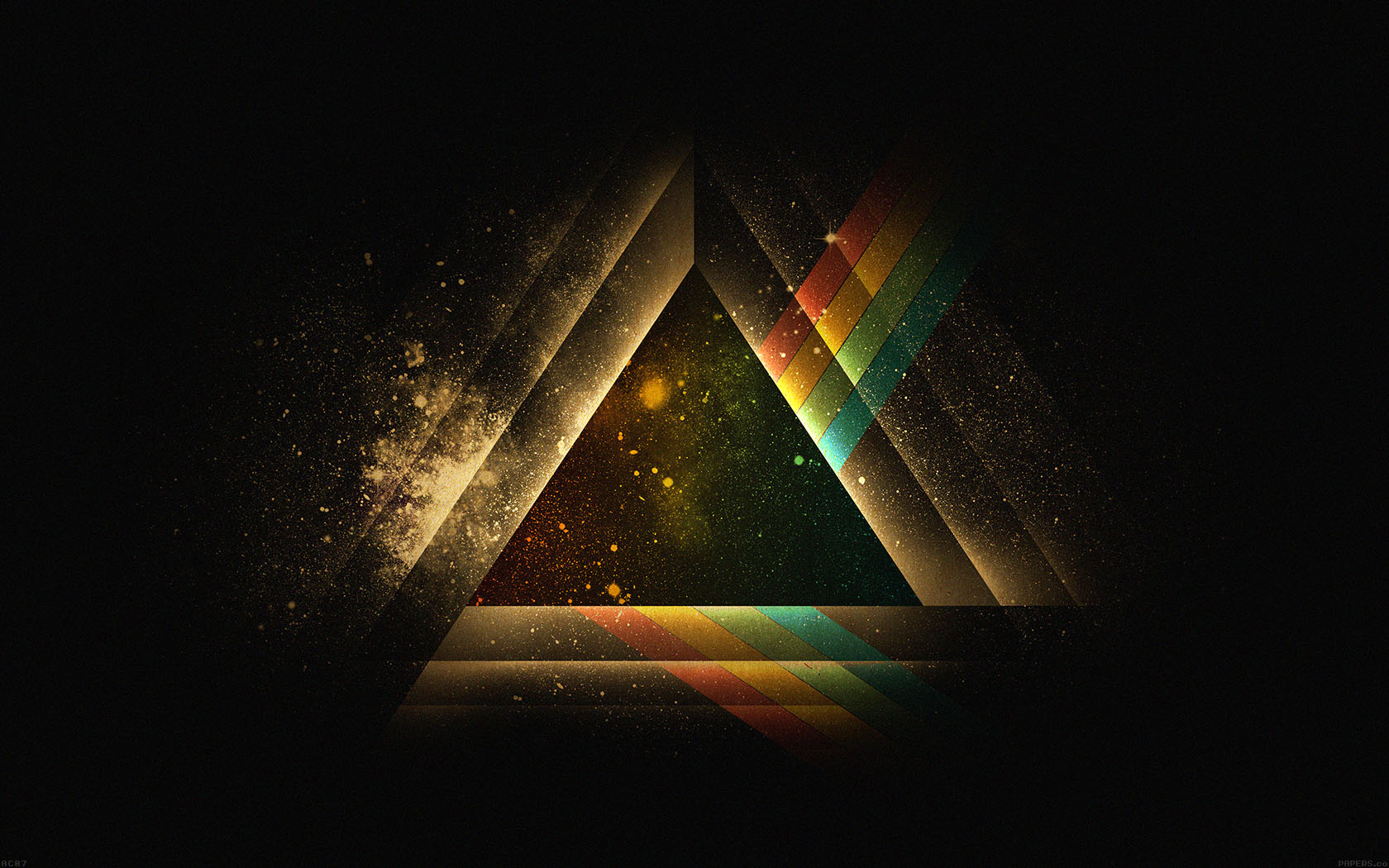 Ac07 wallpaper triangle art rainbow illust graphic for The wallpaper company