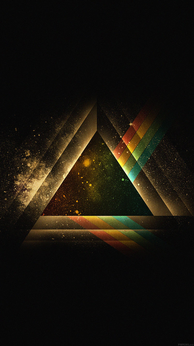 Ac07 Wallpaper Triangle Art Rainbow Illust Graphic Papers Co