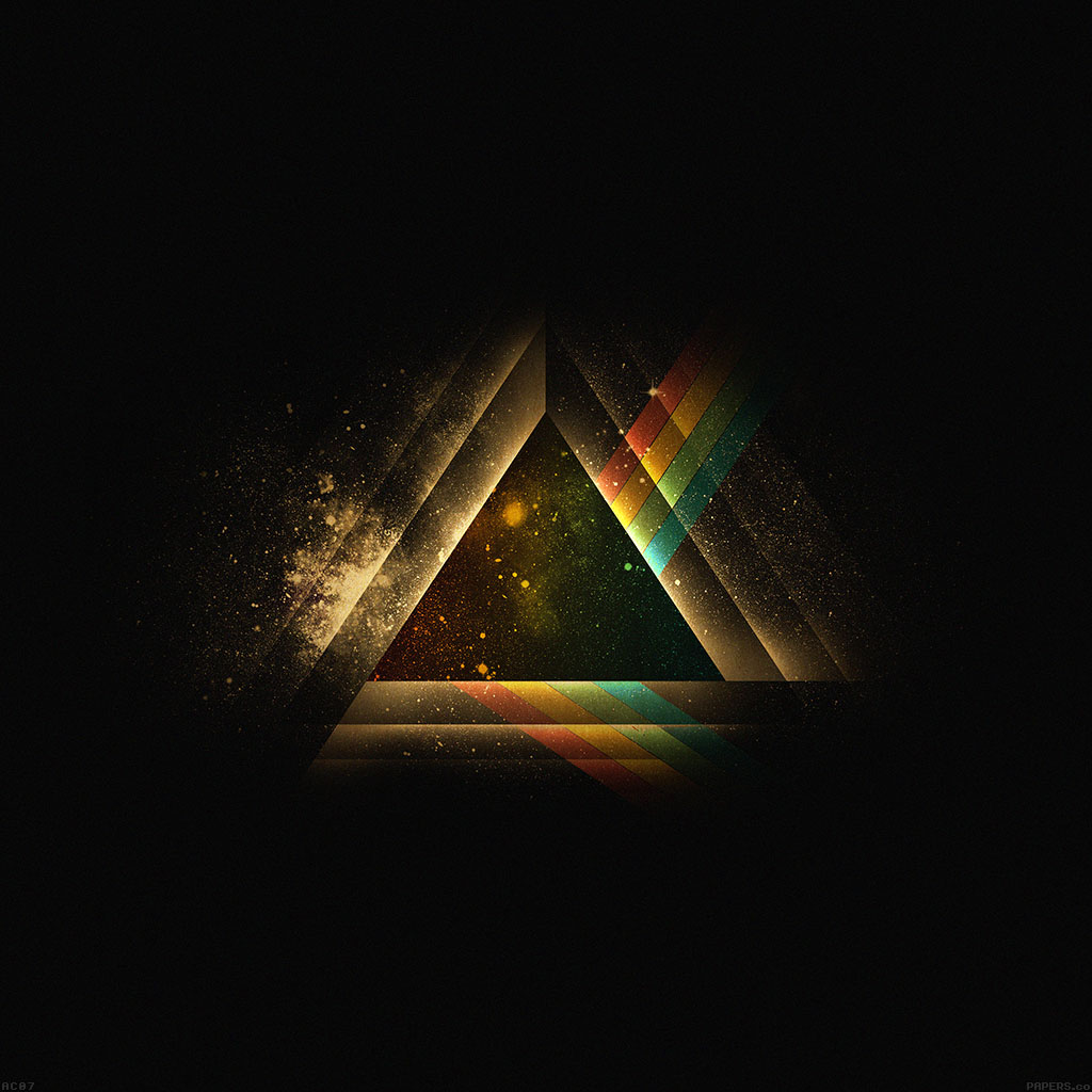 Iphone Wallpaper: Ac07-wallpaper-triangle-art-rainbow-illust-graphic