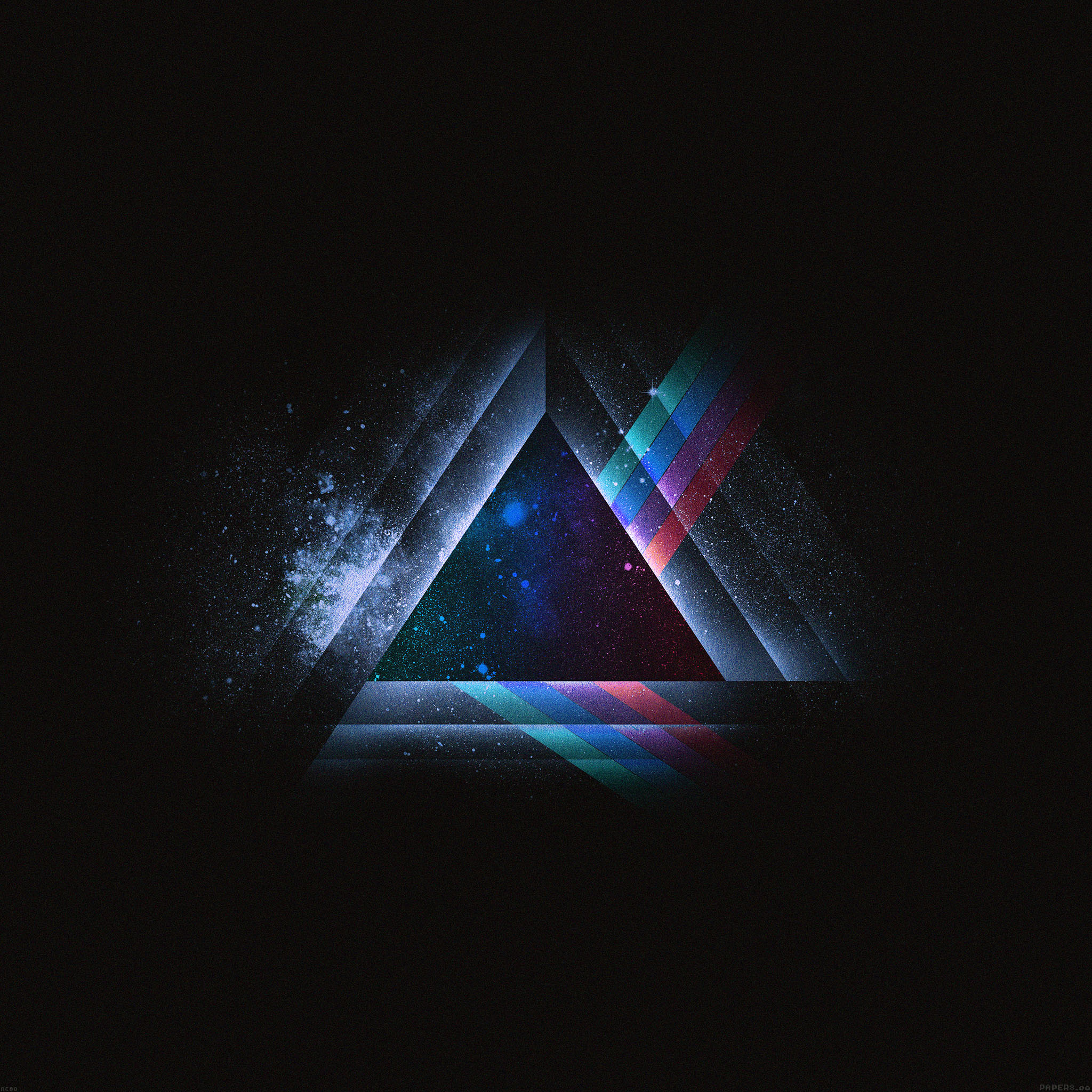 ac08-wallpaper-triangle-art-blue-rainbow-illust-graphic ...