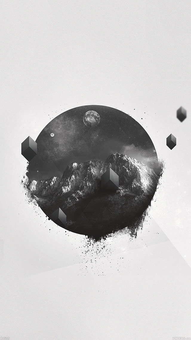 freeios8.com-iphone-4-5-6-ipad-ios8-ac29-wallpaper-abstract-mountain-lin-art