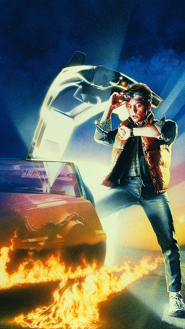 freeios8.com-iphone-4-5-6-ipad-ios8-ac43-wallpaper-back-to-the-future-time-film-poster
