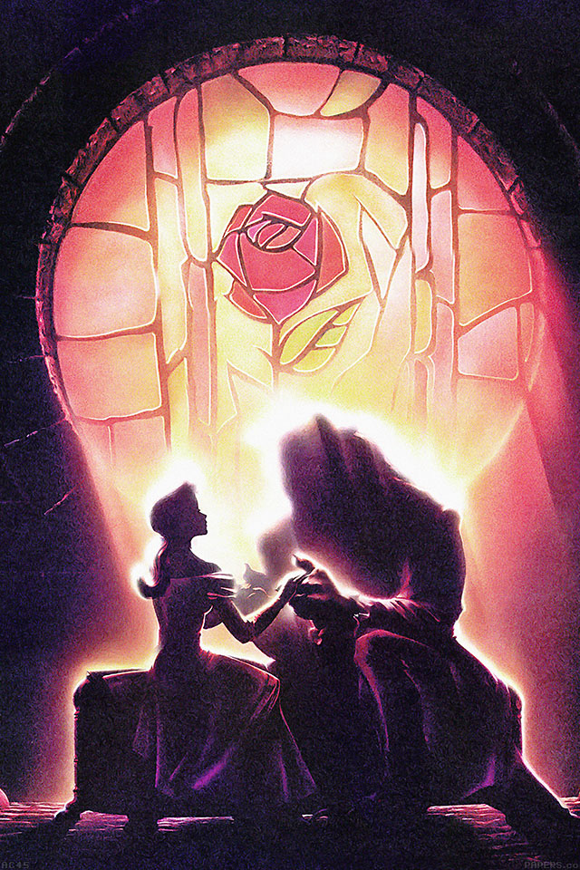 freeios7.com-iphone-4-iphone-5-ios7-wallpaperac45-wallpaper-beauty-and-the-beast-disney-art-illust-iphone4