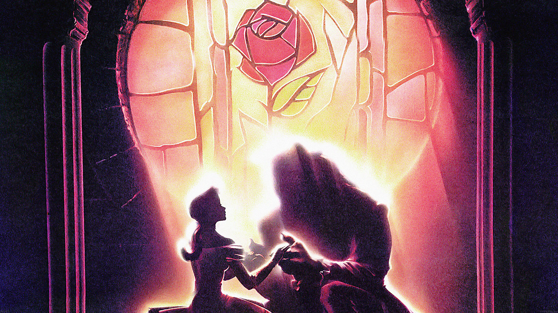Ac45 Wallpaper Beauty And The Beast Disney Art Illust Papers Co