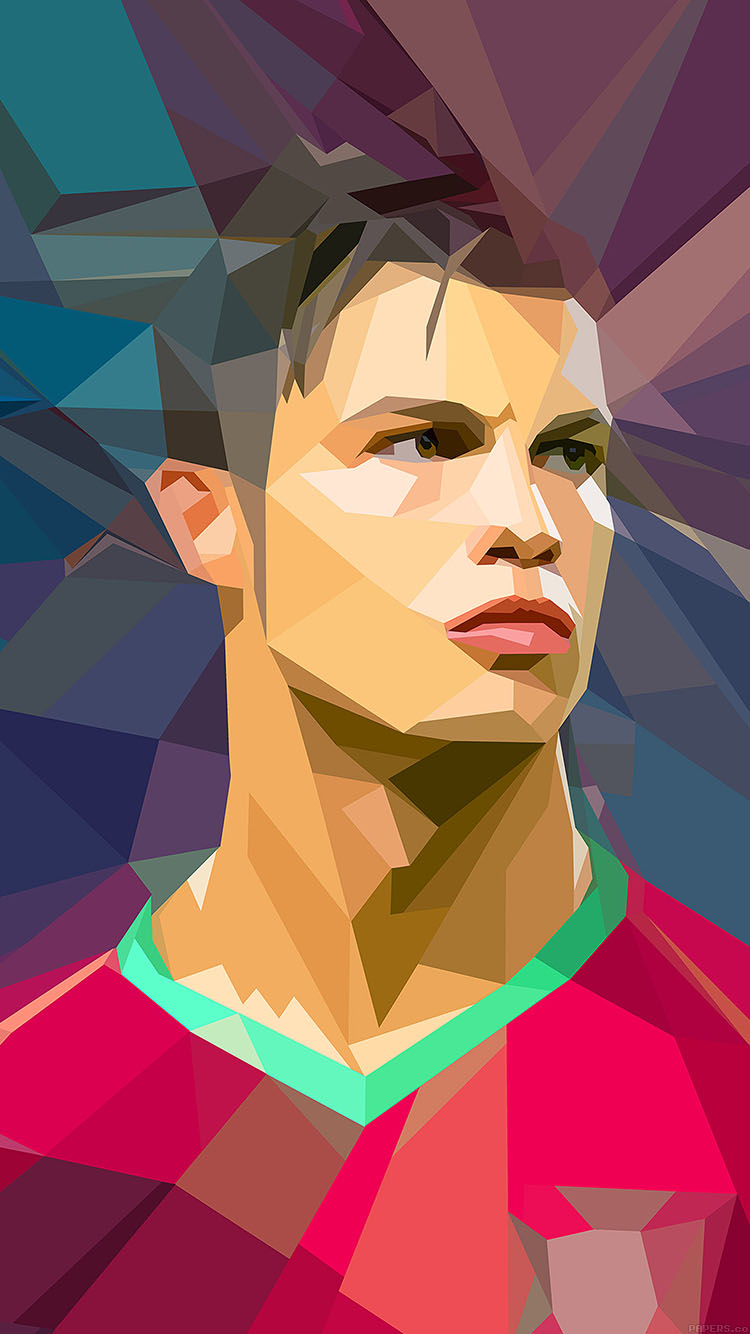Papers.co-iPhone5-iphone6-plus-wallpaper-ac47-wallpaper-c-ronaldo-illust-art-soccer-sports