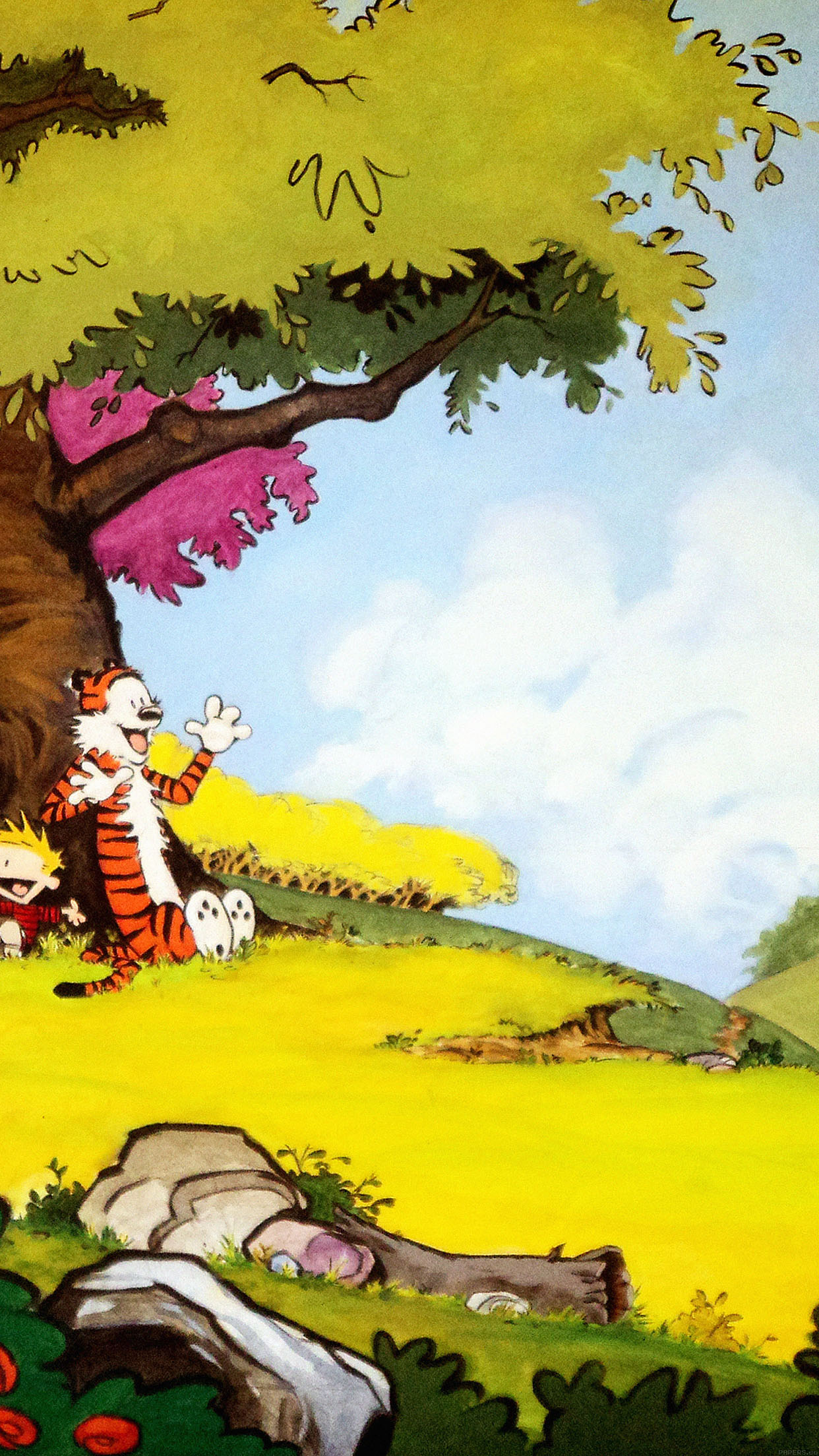 Iphone7papers Ac48 Wallpaper Calvin And Hobbes After Nap