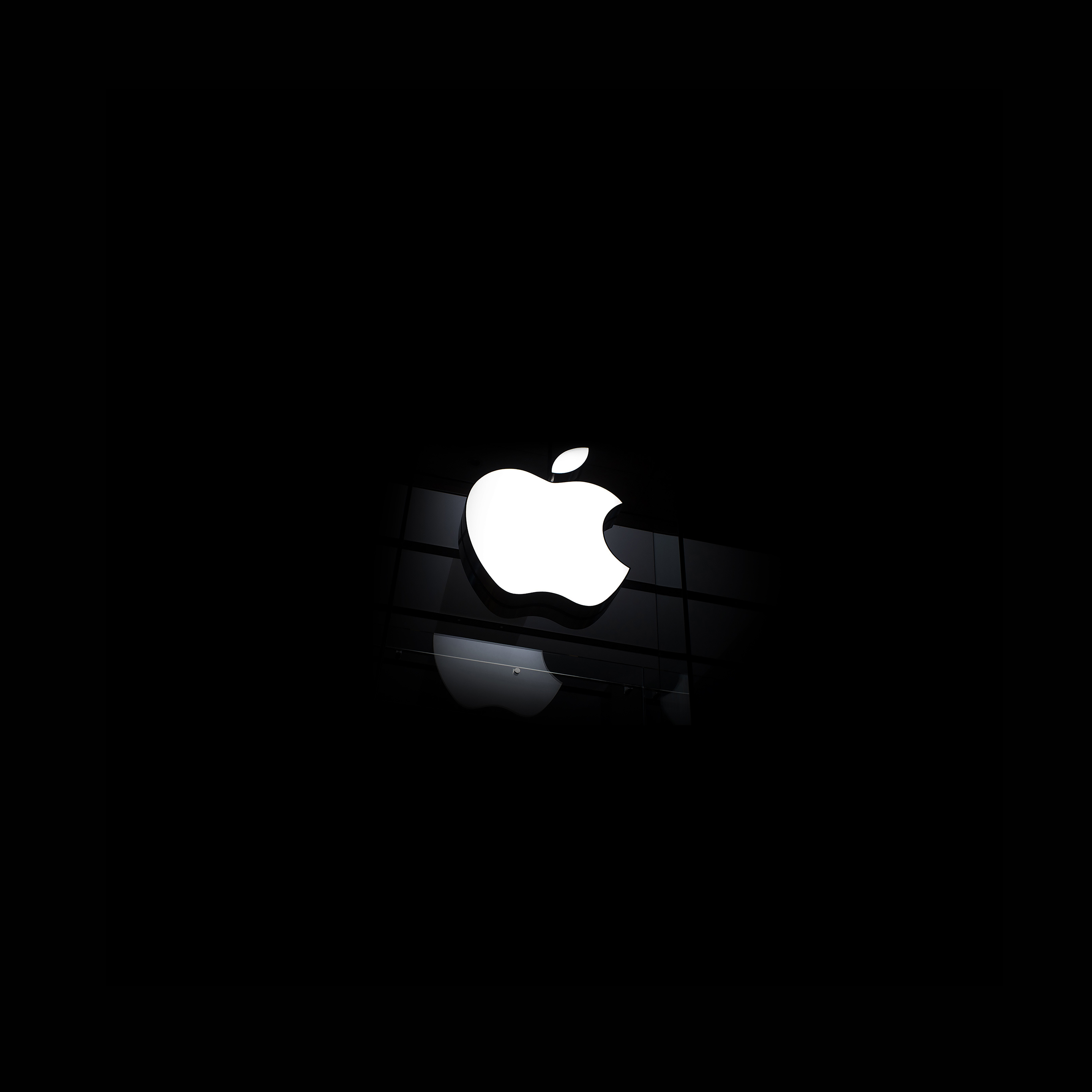 Androidpapersco Ac54 Wallpaper Apple Logo Glass Dark Iphone6 Ready