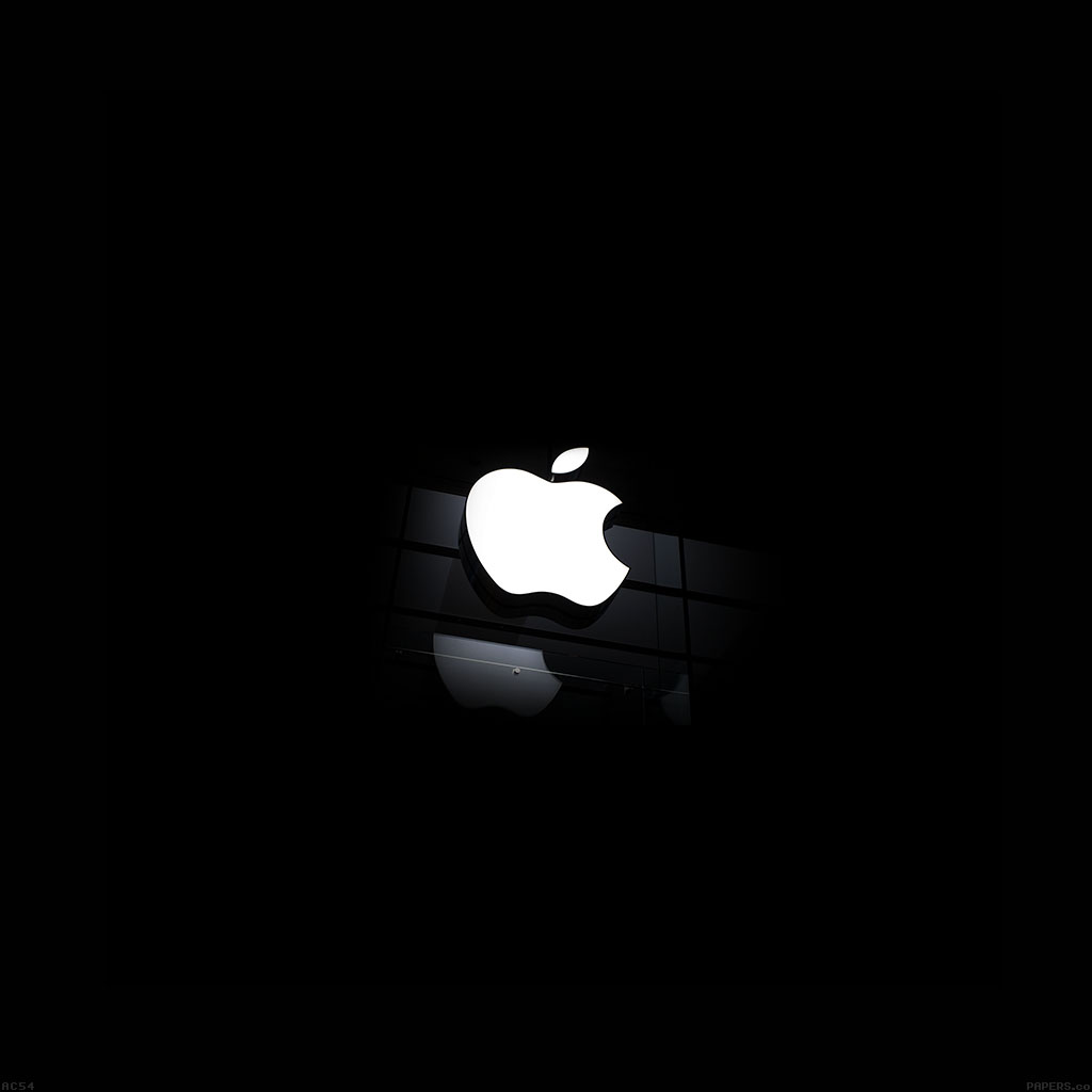 Iphone6 Wallpapers: Ac54-wallpaper-apple-logo-glass-dark-iphone6-ready-wallpaper