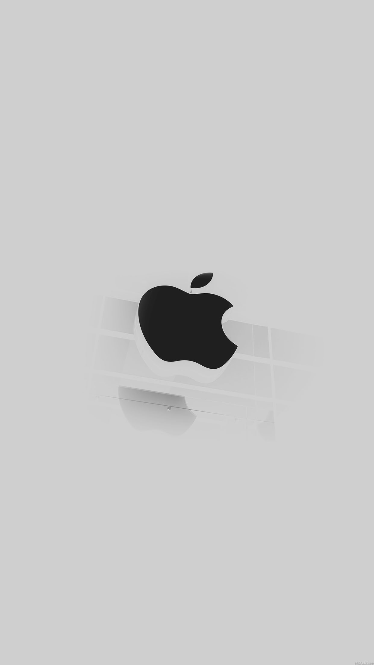 iphone6papers - ac55-wallpaper-apple-logo-glass-white-iphone6-ready
