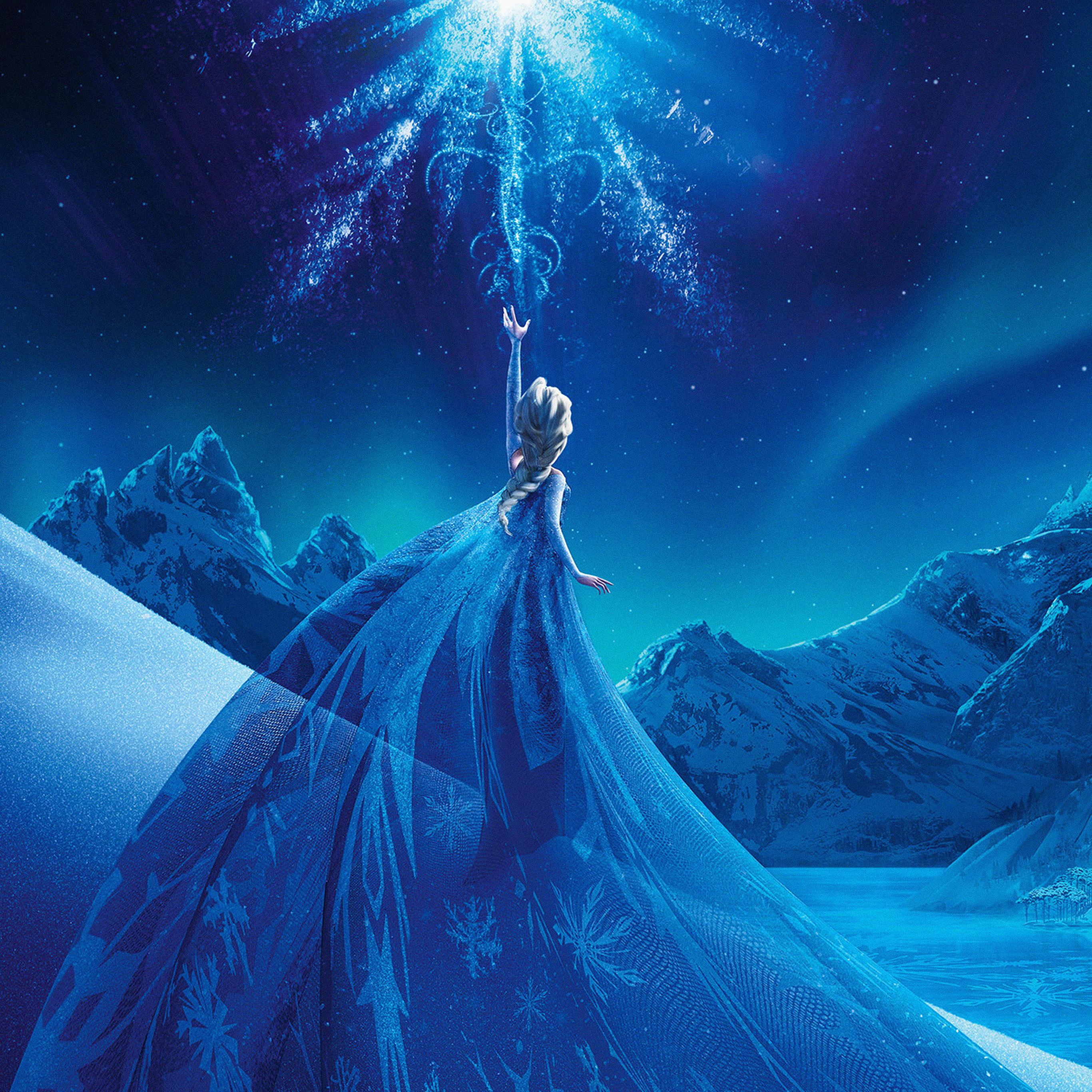 Ac69 Wallpaper Elsa Frozen Queen Disney Illust Snow Art Papers Co