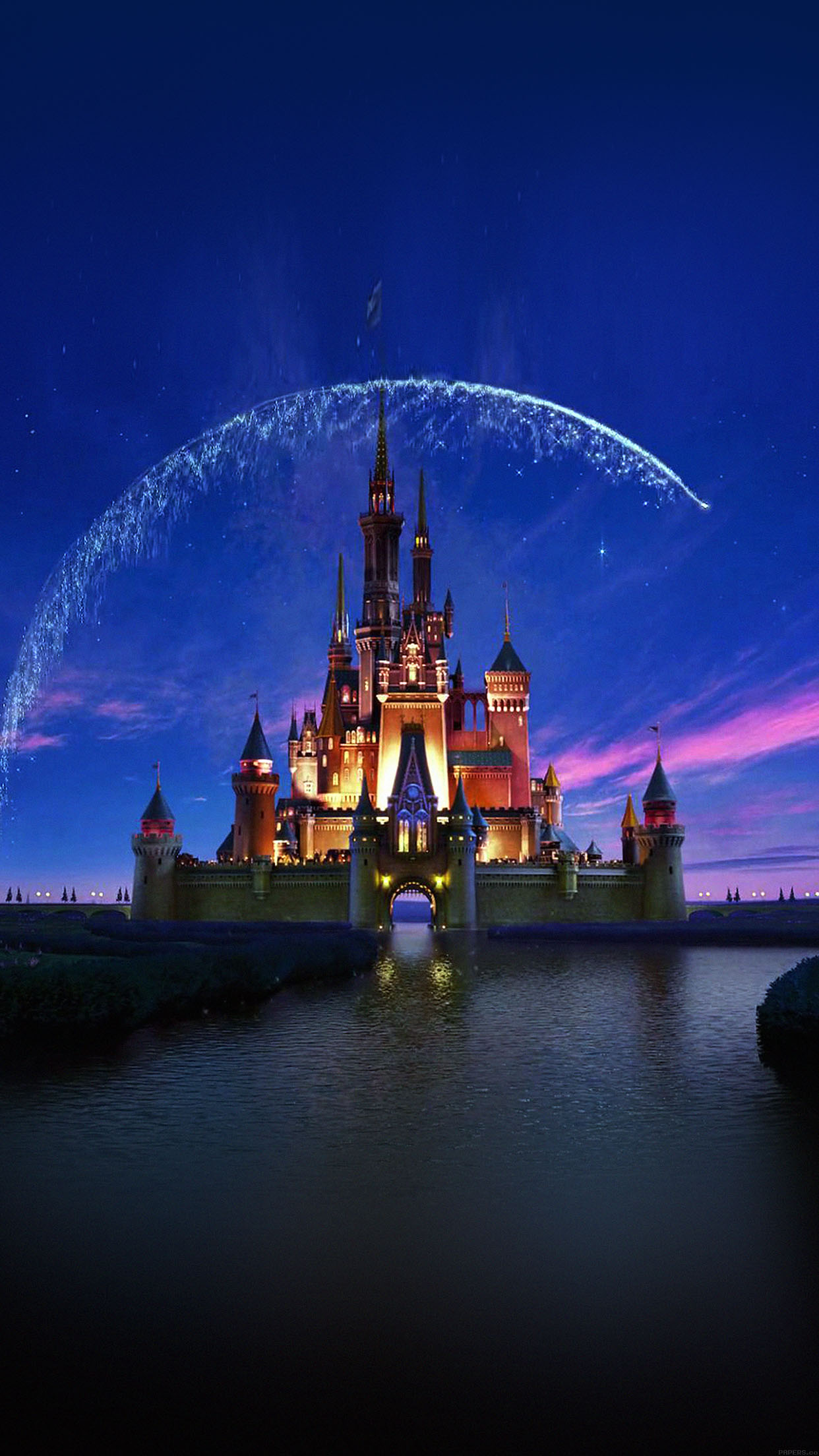 ac76 wallpaper disney castle artwork illust sky