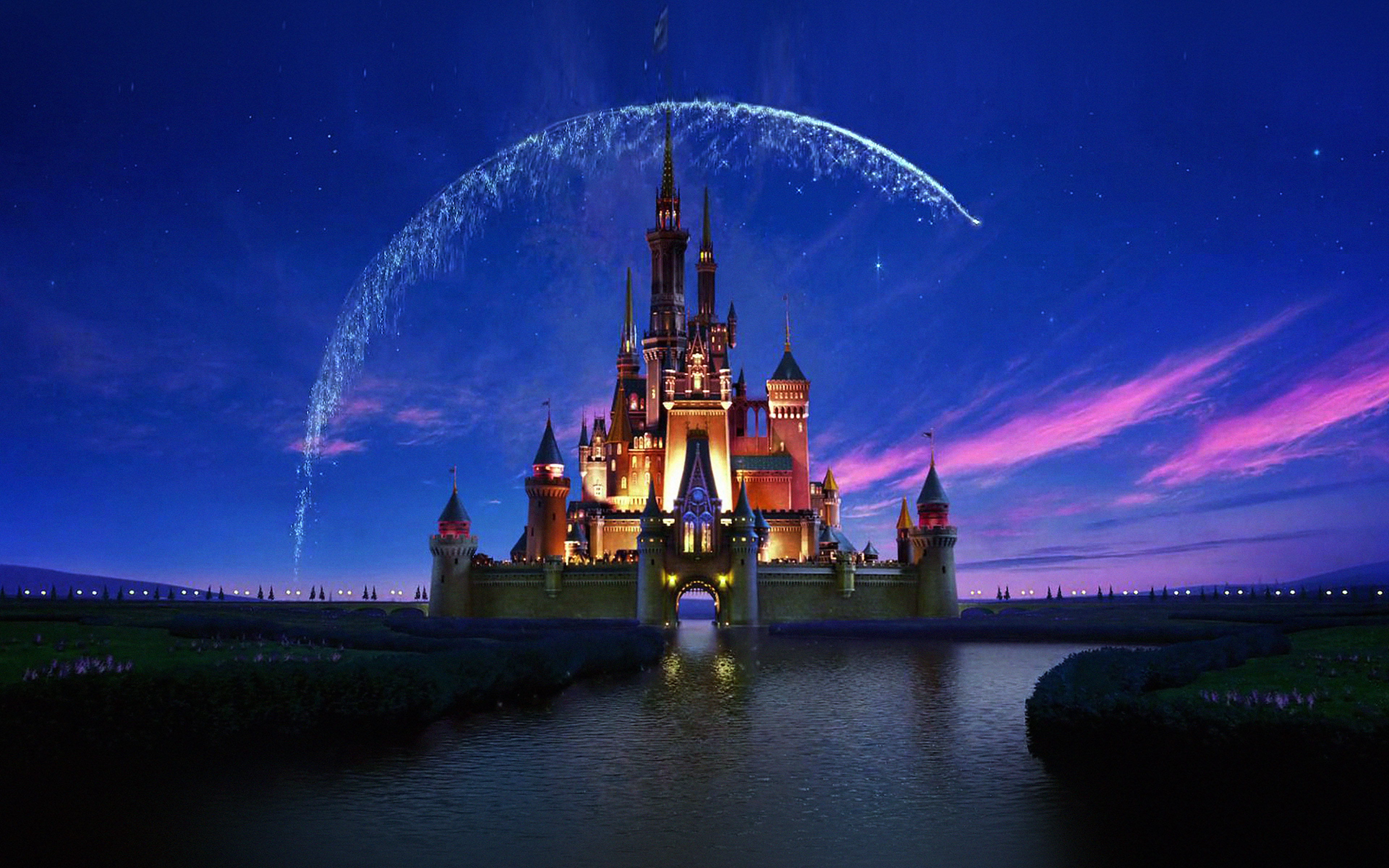 Ac76 Wallpaper Disney Castle Artwork Illust Sky Papers Co