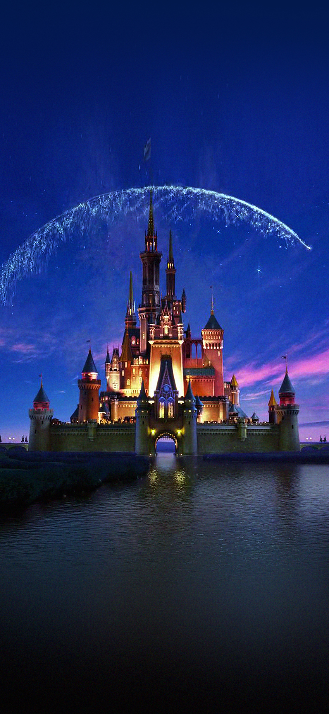 iPhoneXpapers.com-Apple-iPhone-wallpaper-ac76-wallpaper-disney-castle-artwork-illust-sky