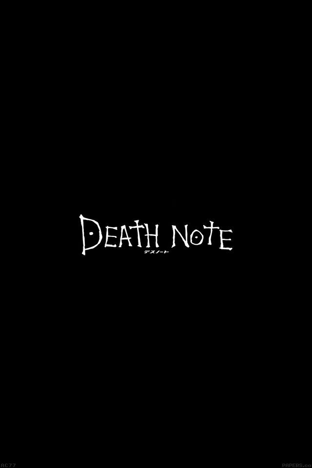 Ac77 Wallpaper Death Note Cartoon Illust Minimal Papers Co