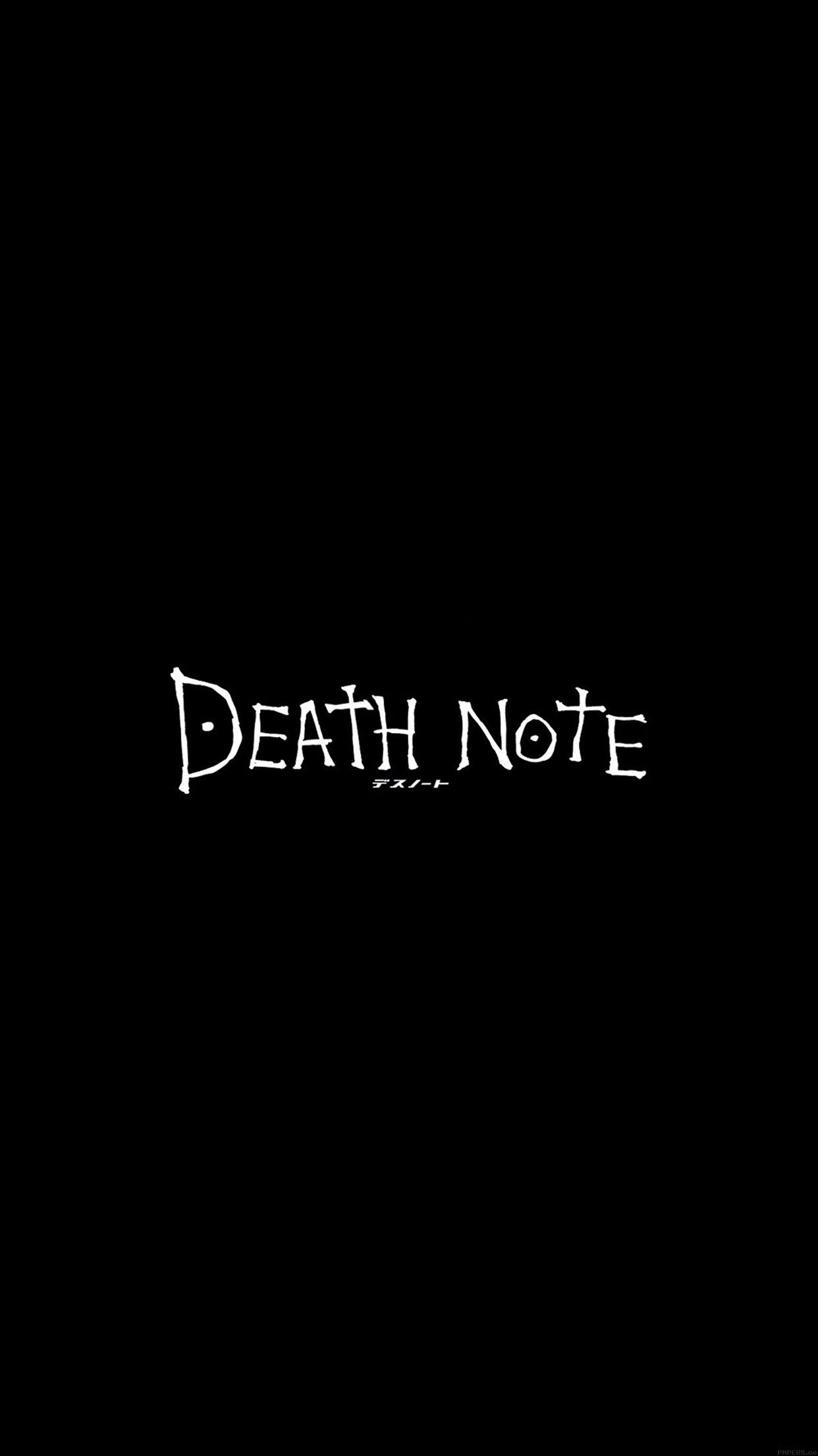 Iphone7papers Ac77 Wallpaper Death Note Cartoon Illust Minimal