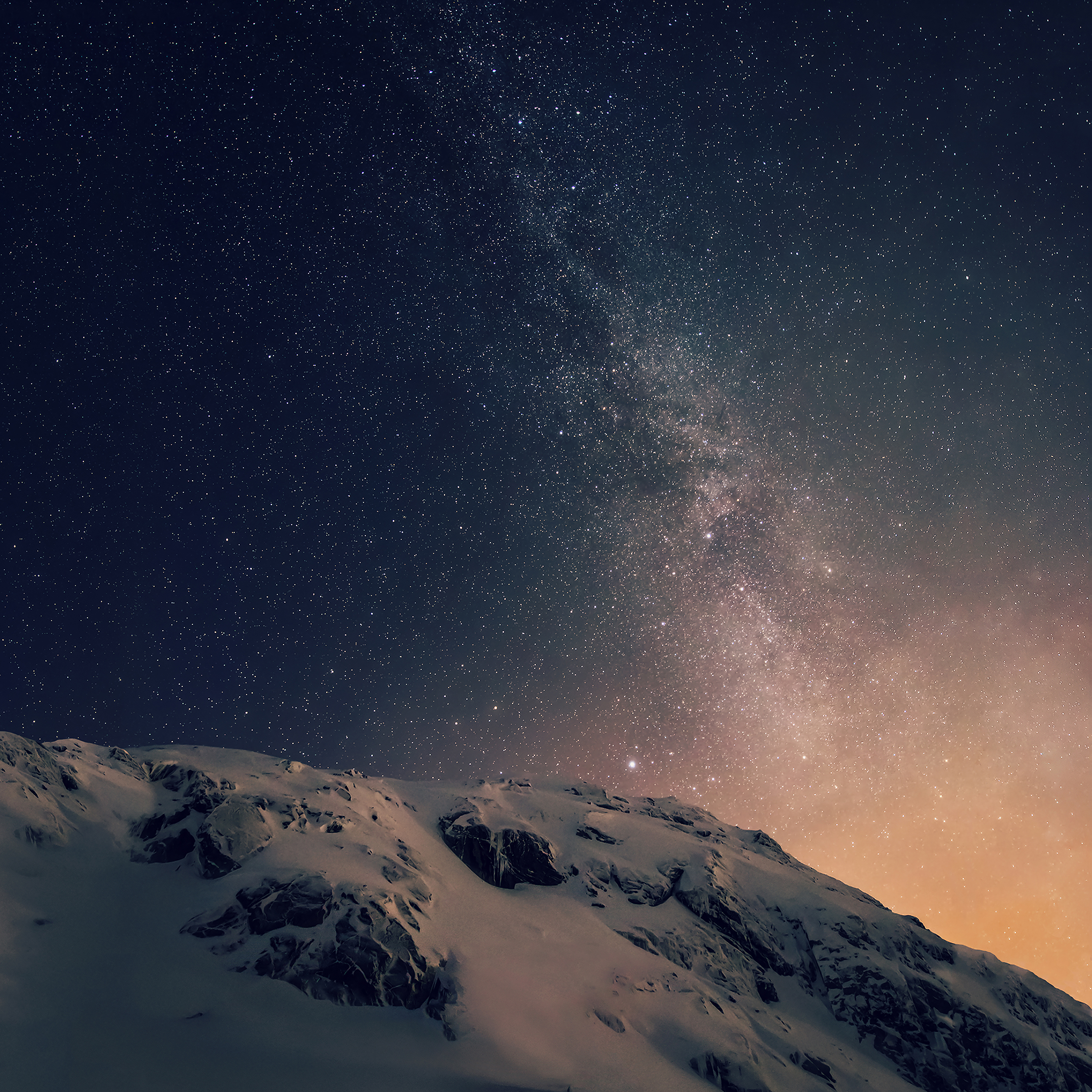 Ad01 Wallpaper Apple Ios8 Iphone6 Plus Official Dark Starry Night