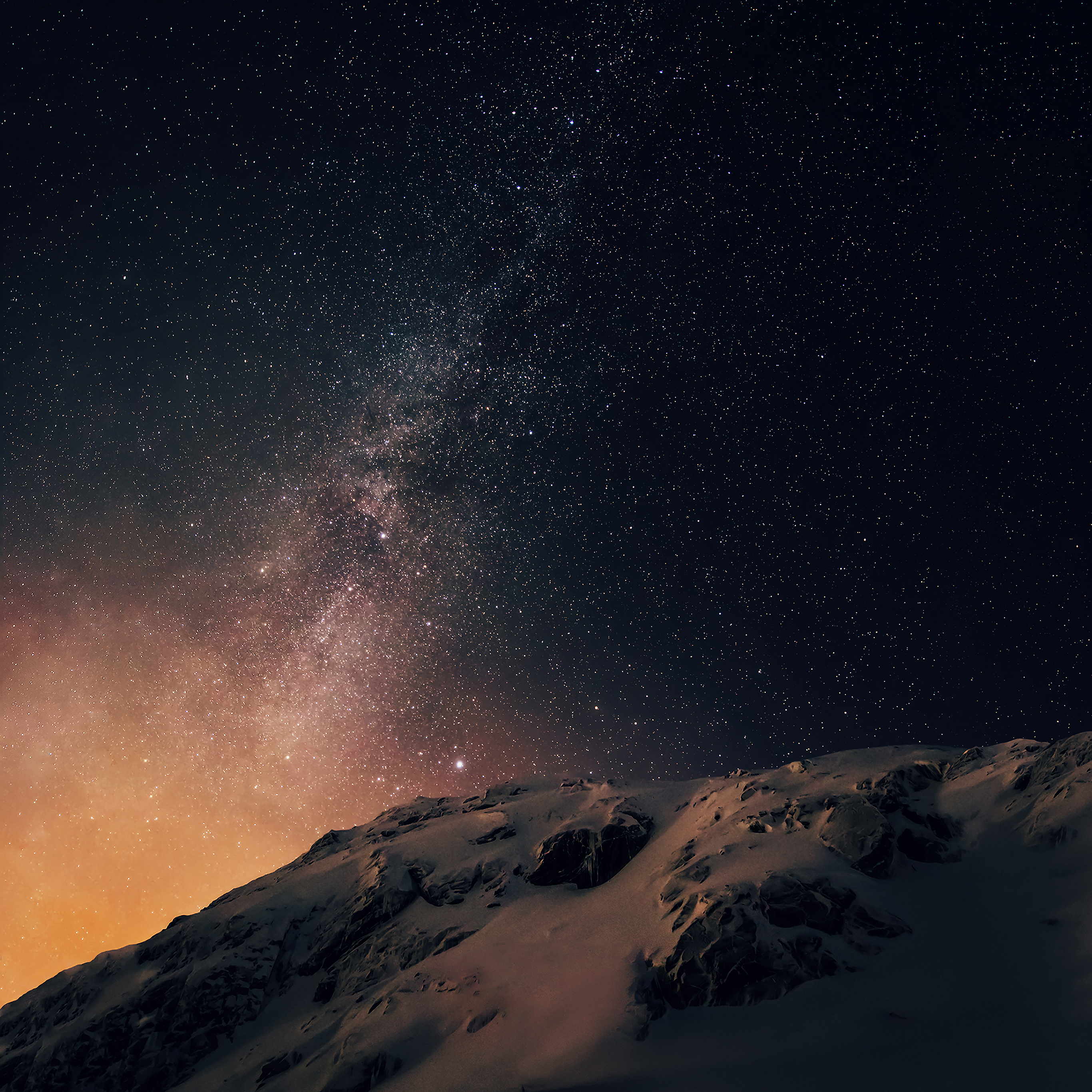Ad02 Wallpaper Apple Ios8 Iphone6 Plus Official Darker Starry Night