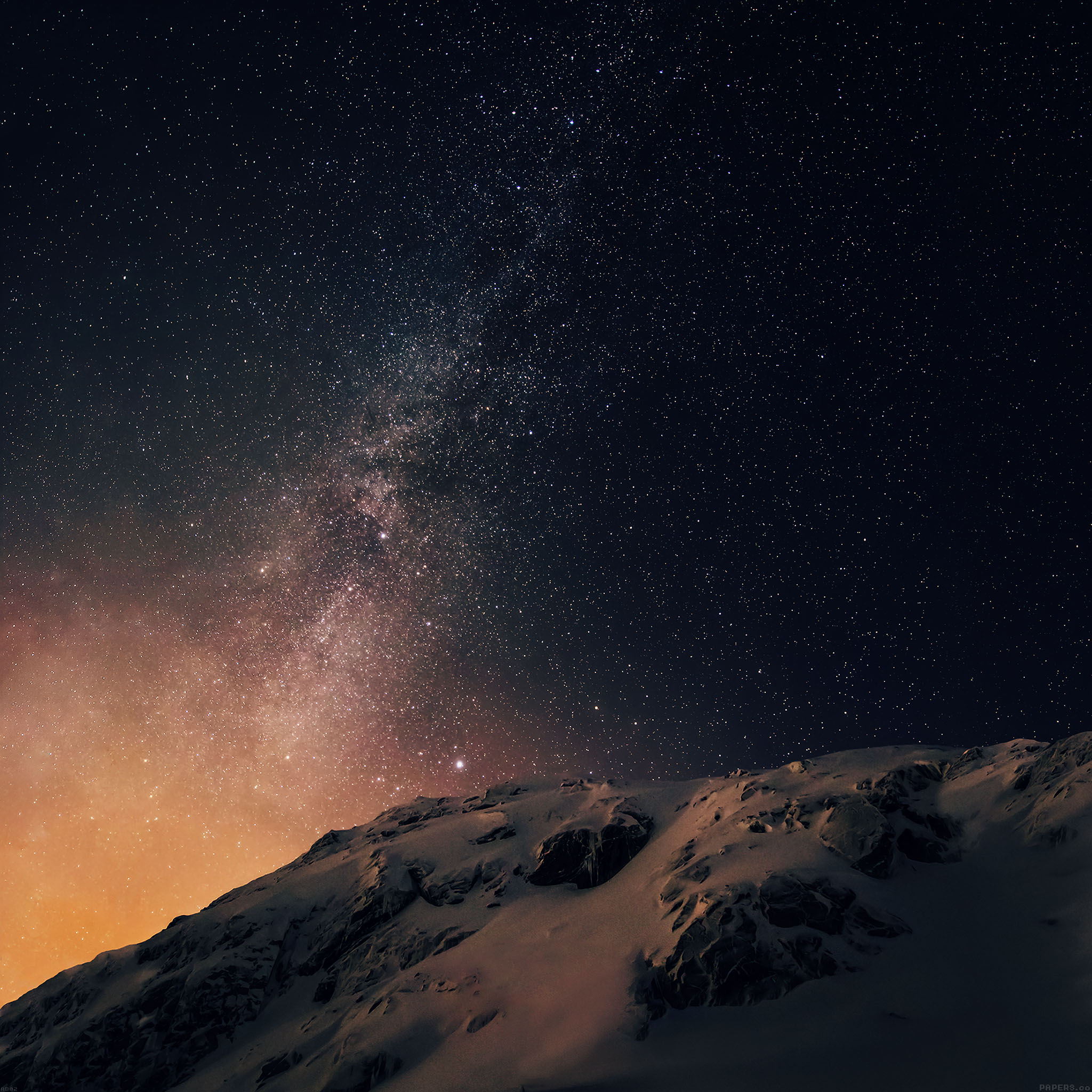 Ad02 Wallpaper Apple Ios8 Iphone6 Plus Official Darker Starry