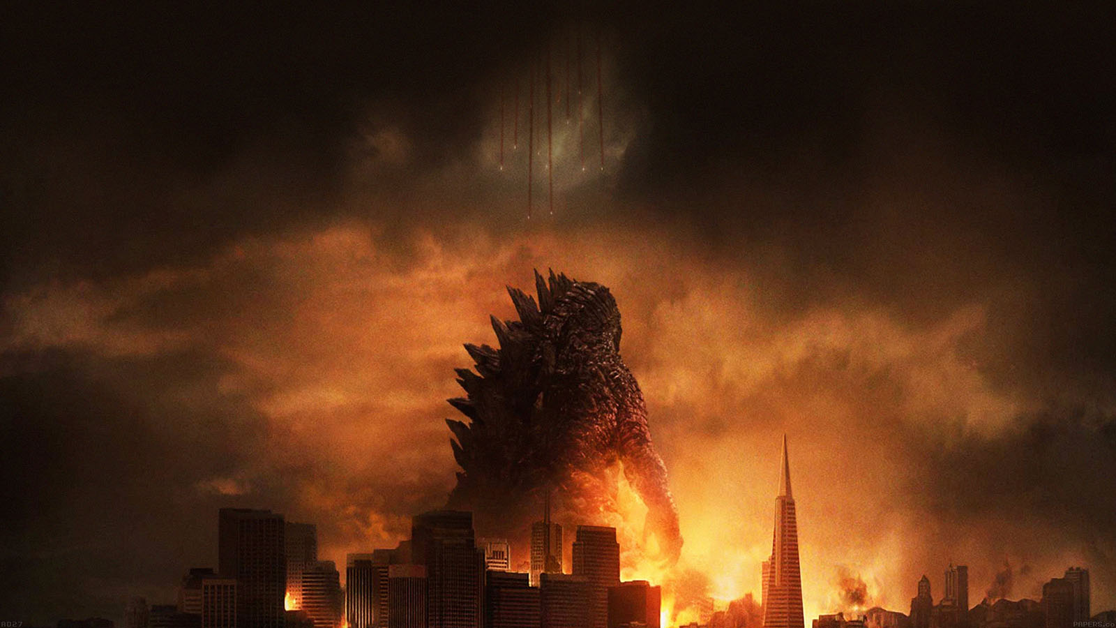 Wallpaper For Desktop Laptop Ad27 Godzilla Poster Film