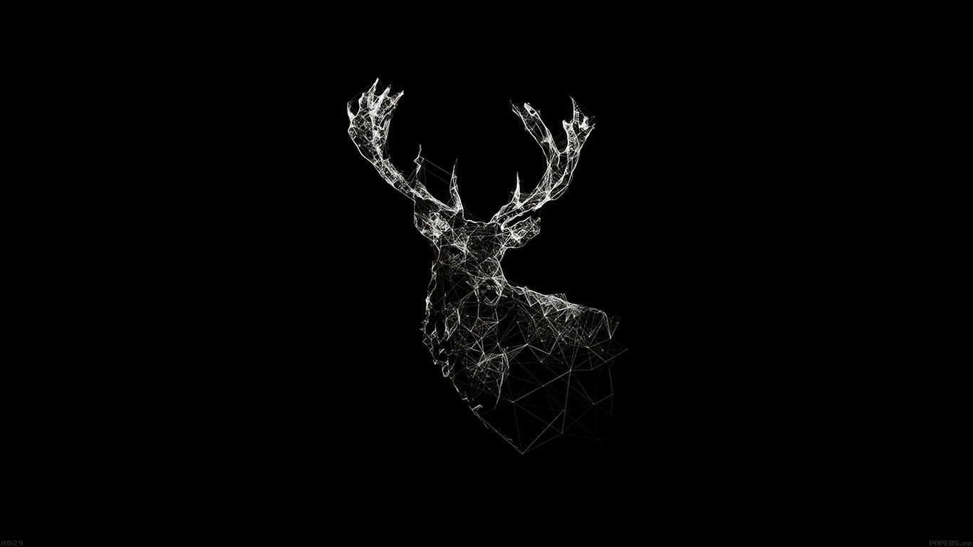 wallpaper-desktop-laptop-mac-macbook-ad29-deer-animal-illust-dark-wallpaper