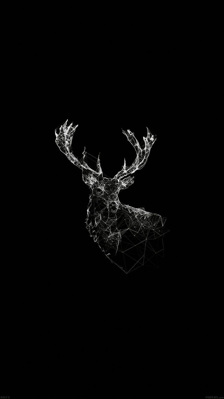 Papers.co-iPhone5-iphone6-plus-wallpaper-ad29-deer-animal-illust-dark