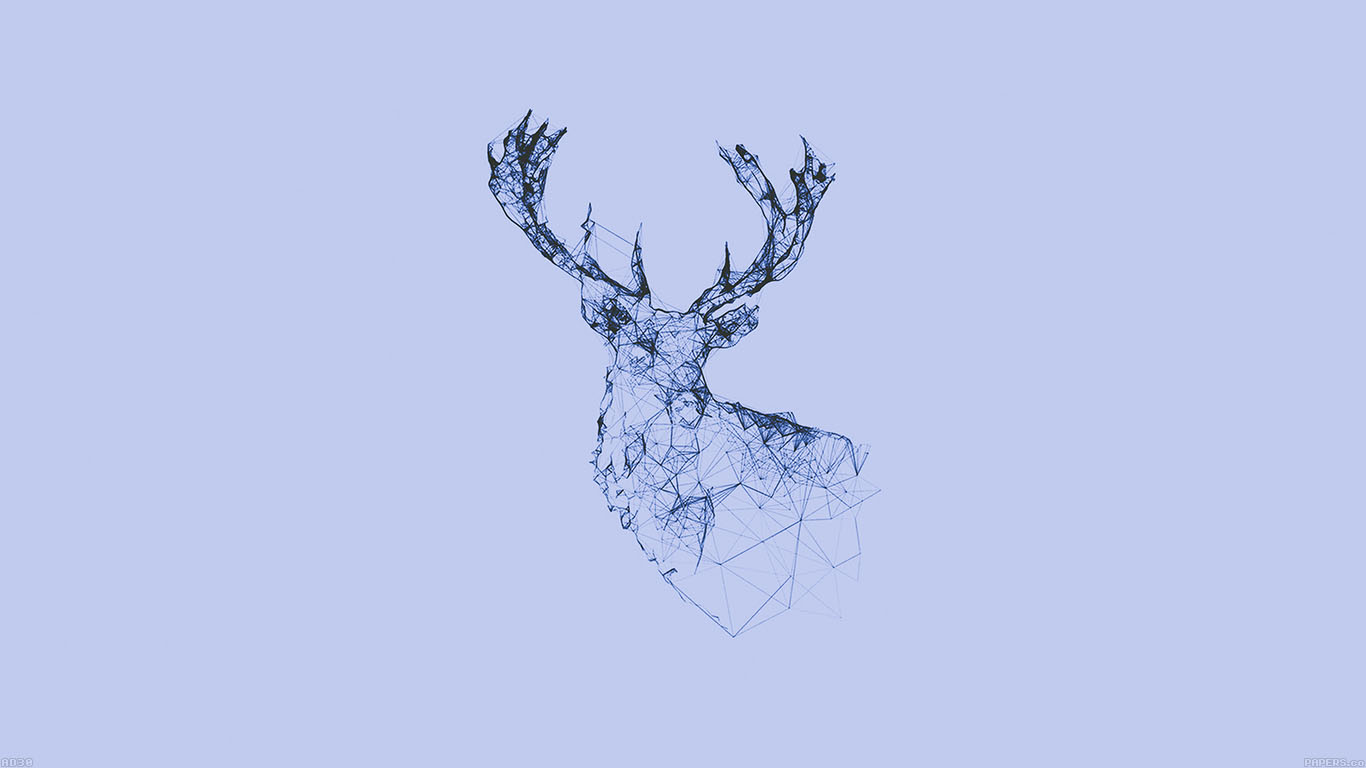 wallpaper-desktop-laptop-mac-macbook-ad30-deer-animal-illust-blue-wallpaper