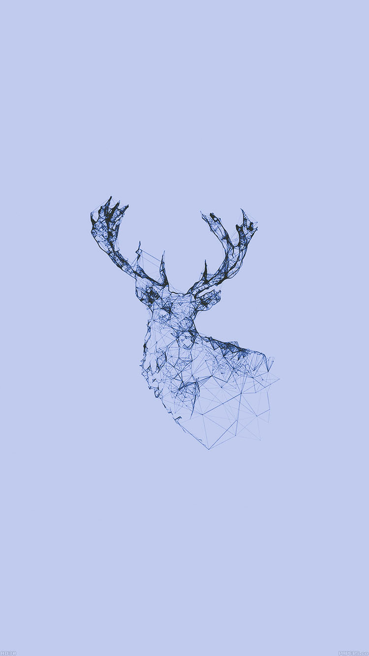 iPhone6papers.co-Apple-iPhone-6-iphone6-plus-wallpaper-ad30-deer-animal-illust-blue
