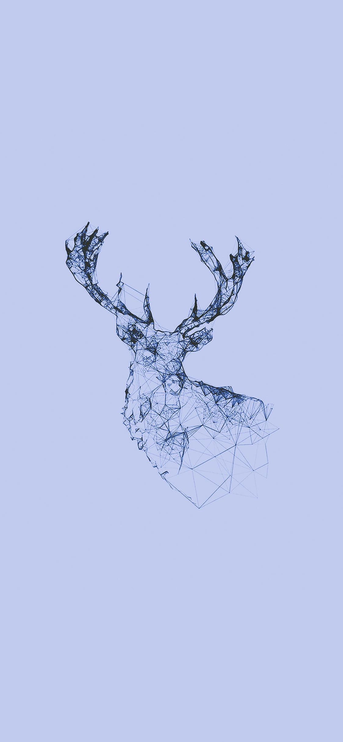 iPhoneXpapers.com-Apple-iPhone-wallpaper-ad30-deer-animal-illust-blue