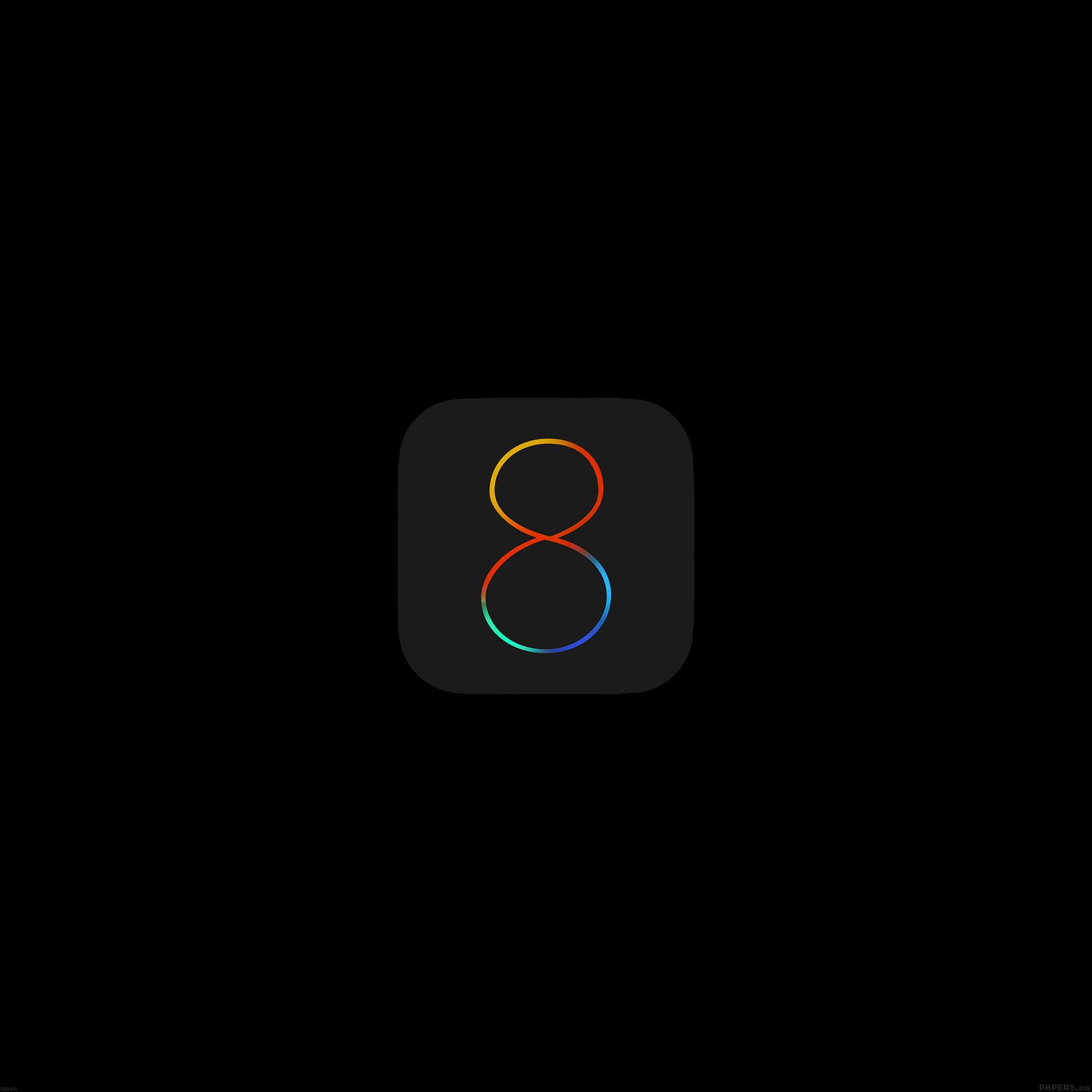 Ad46 Apple Ios8 Dark Logo Papers Co