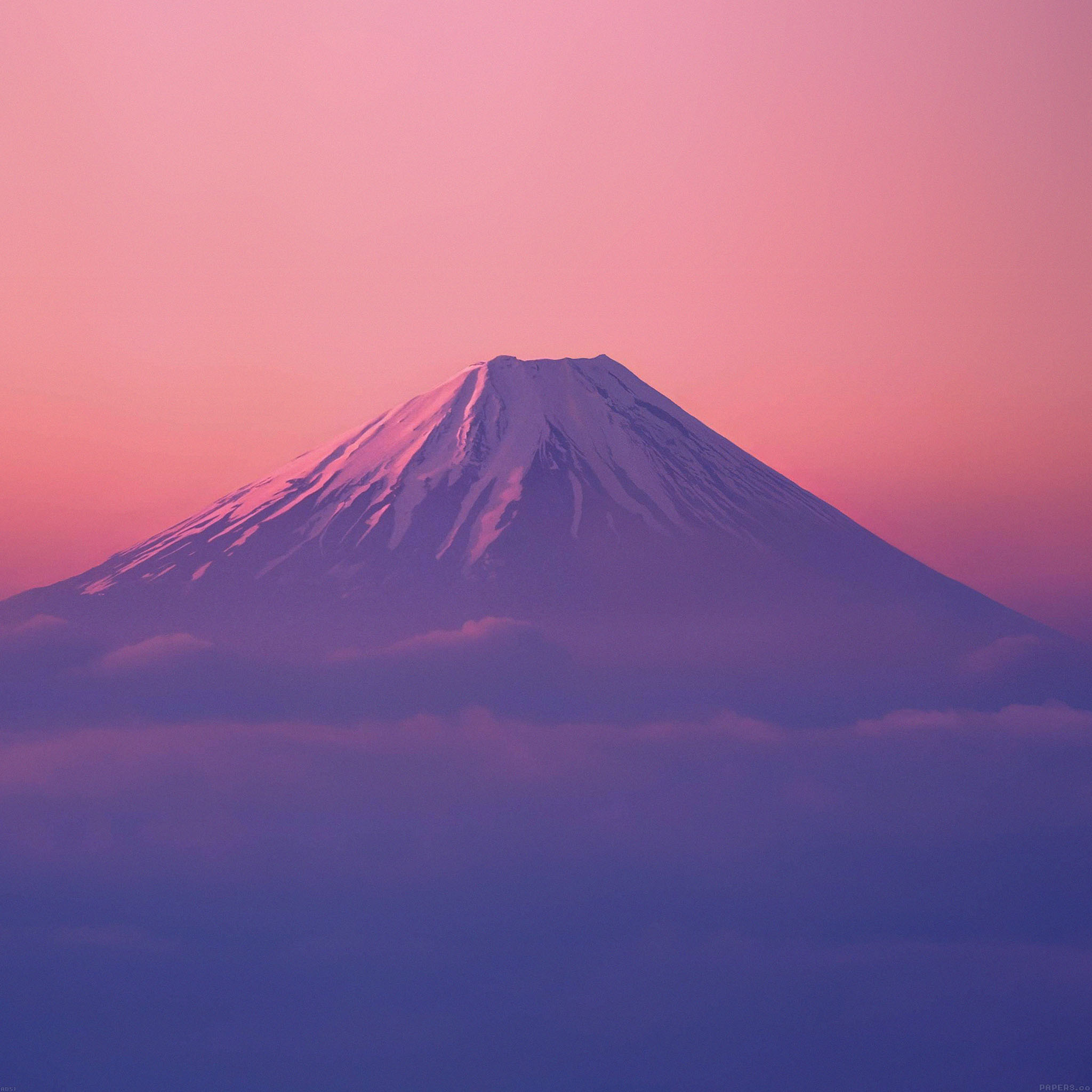 FREEIOS7 | ad51-fuji-mountain-alone - parallax HD iPhone ...