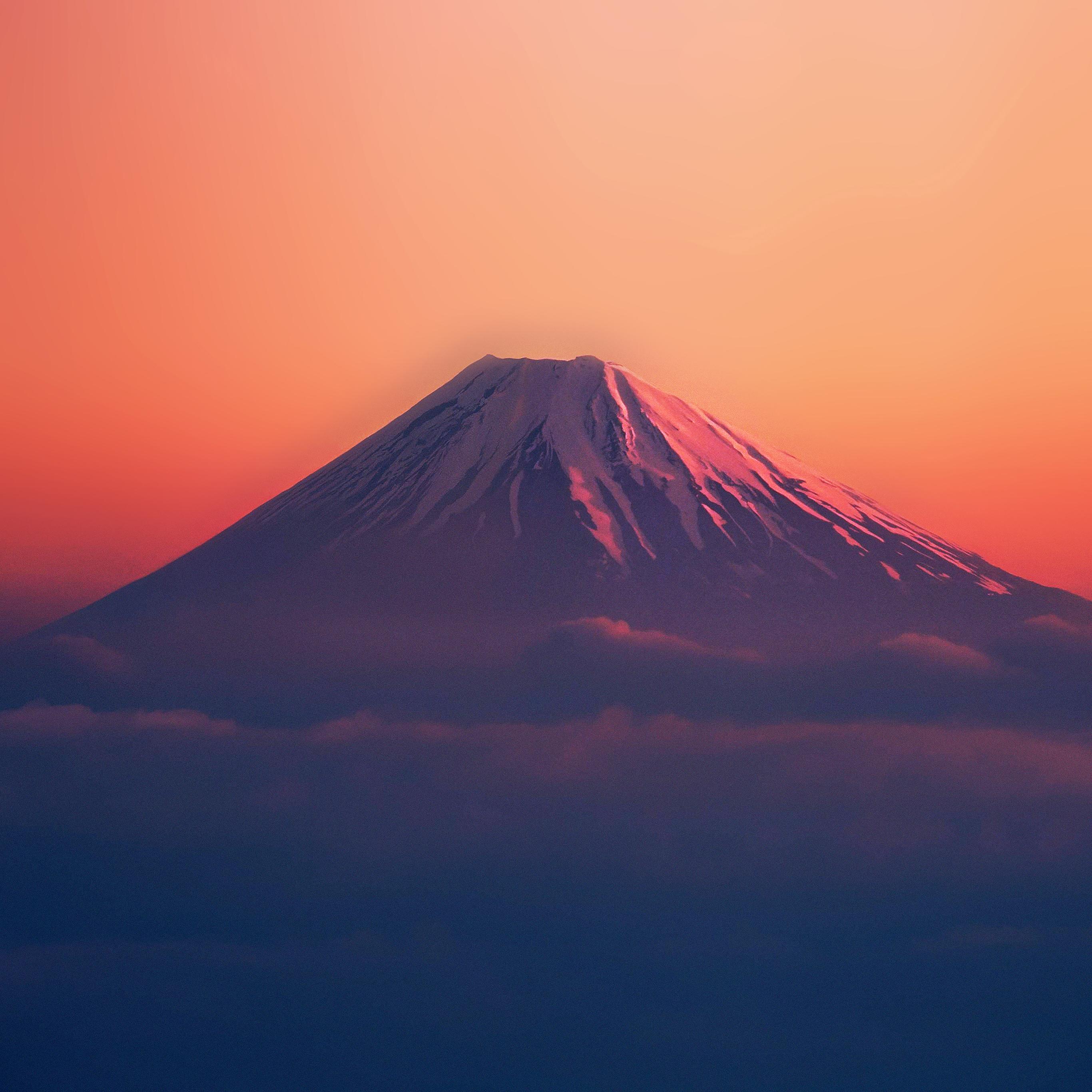Ad53-fuji-red-mountain-alone-wallpaper