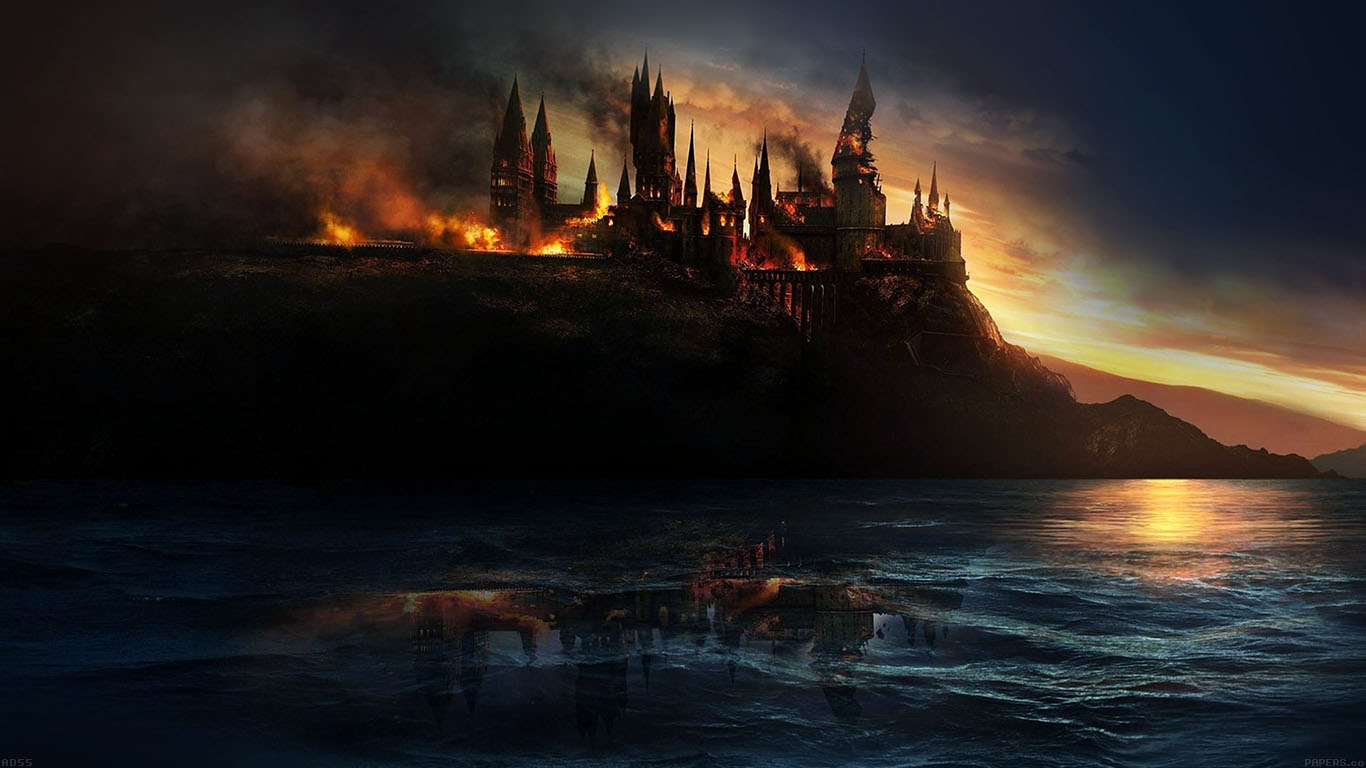 iPapers.co-Apple-iPhone-iPad-Macbook-iMac-wallpaper-ad55-city-castle-on-fire-art