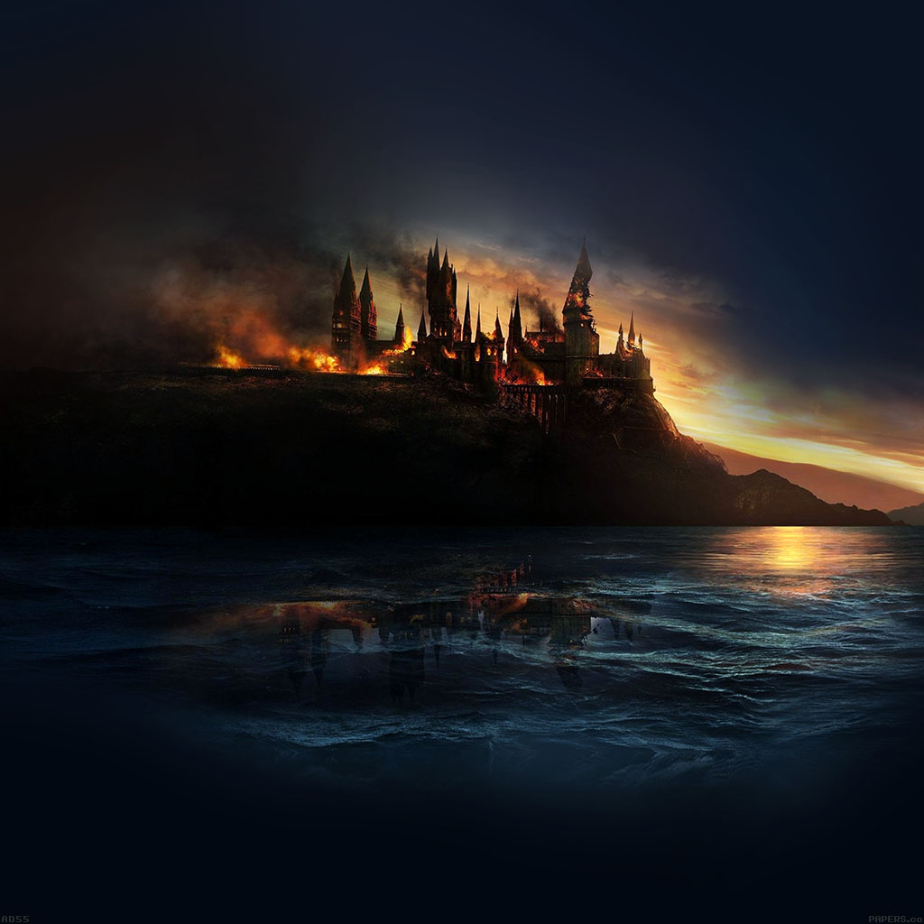 android-wallpaper-ad55-city-castle-on-fire-art-wallpaper