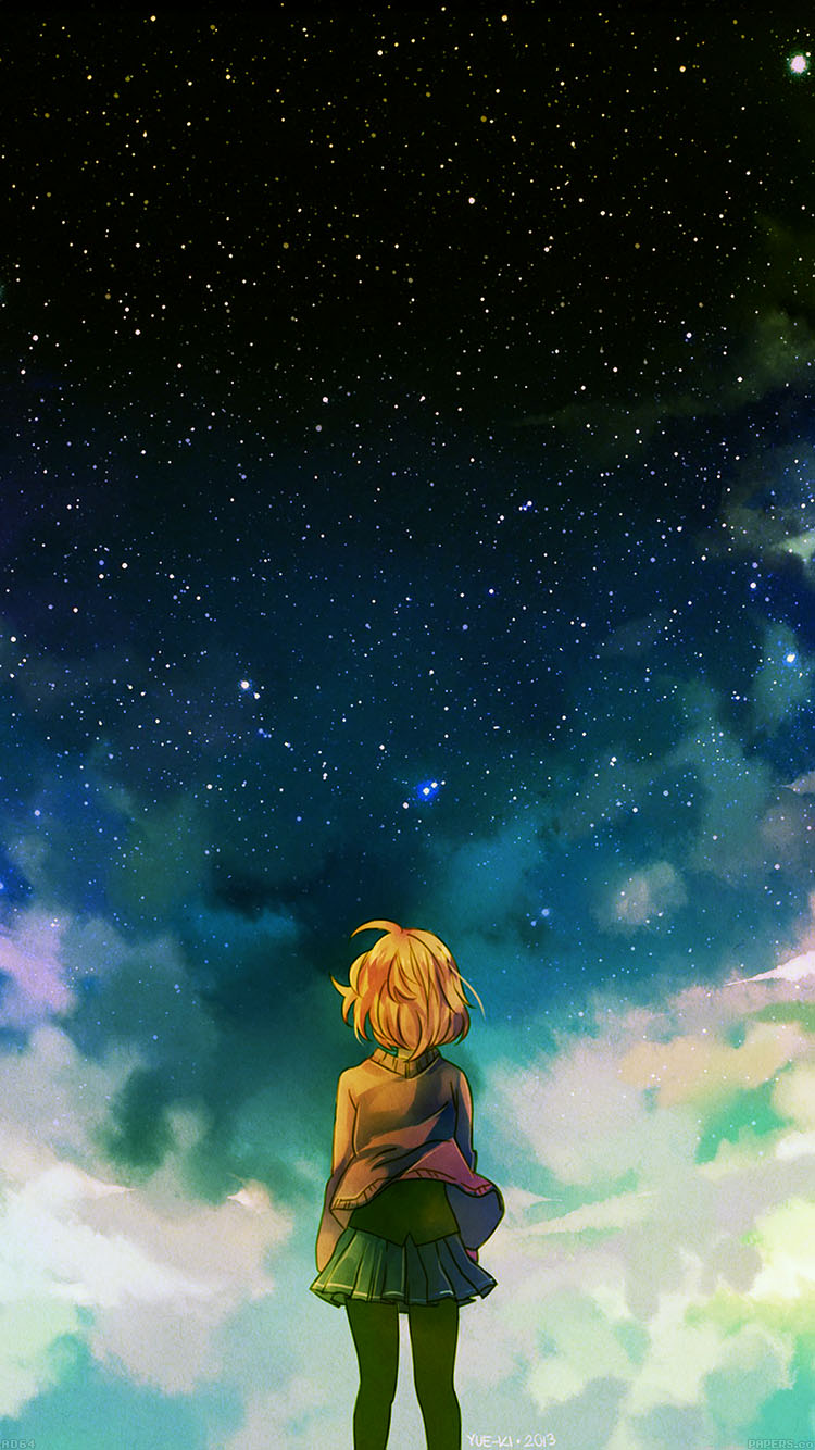 iPhone7papers.com-Apple-iPhone7-iphone7plus-wallpaper-ad64-starry-night-illust-anime-girl