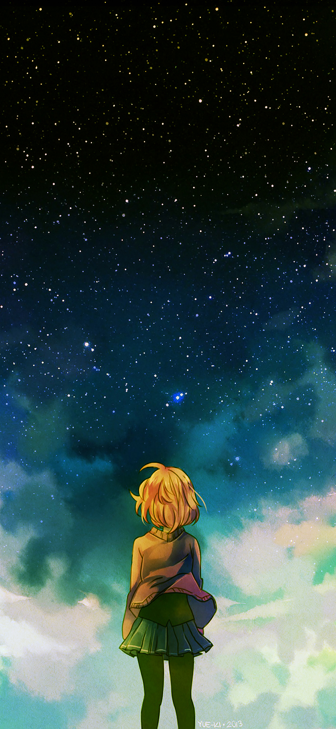 iPhoneXpapers.com-Apple-iPhone-wallpaper-ad64-starry-night-illust-anime-girl