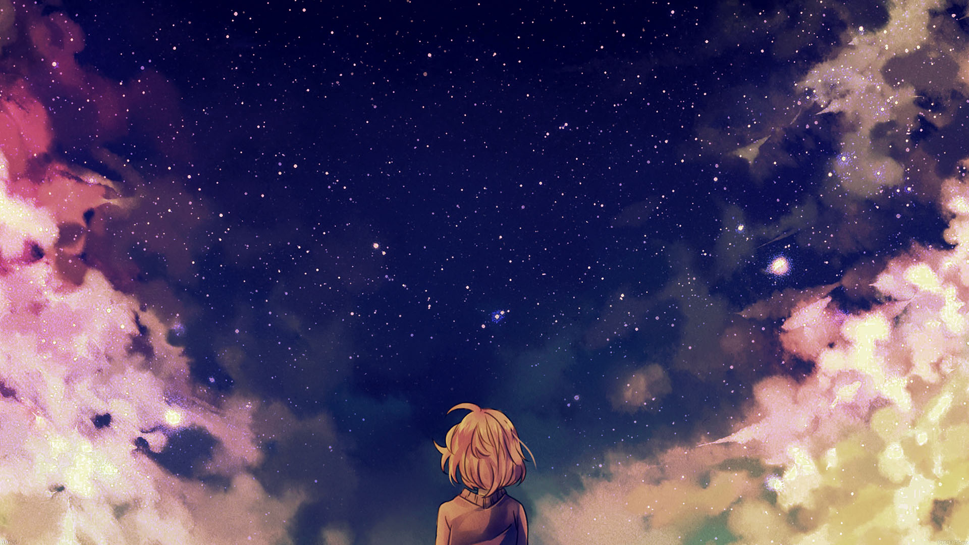 Ad65 starry space illust anime girl wallpaper - Wallpaper computer anime ...