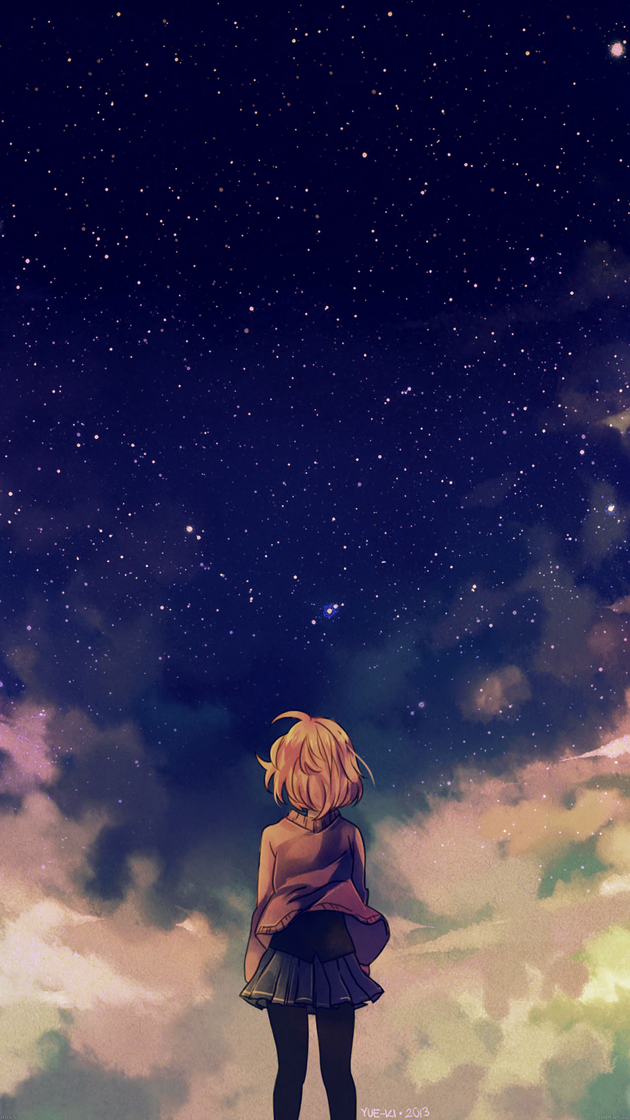 Iphone wallpaper ad65 starry space illust - Kawaii anime iphone wallpaper ...