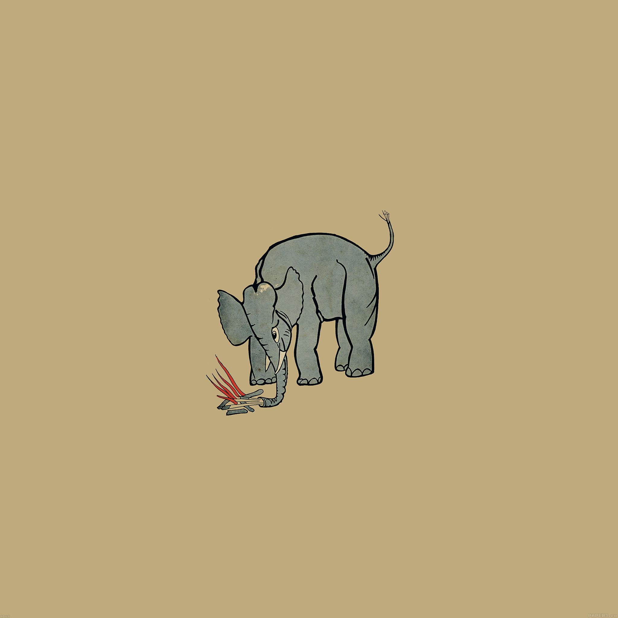 Freeios7 Ad68 Elephant Fire Illust Parallax Hd Iphone