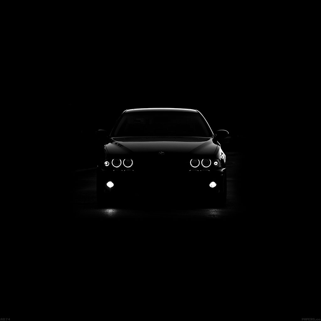 Bmw Car Wallpaper: Ad74-bmw-car-black-light