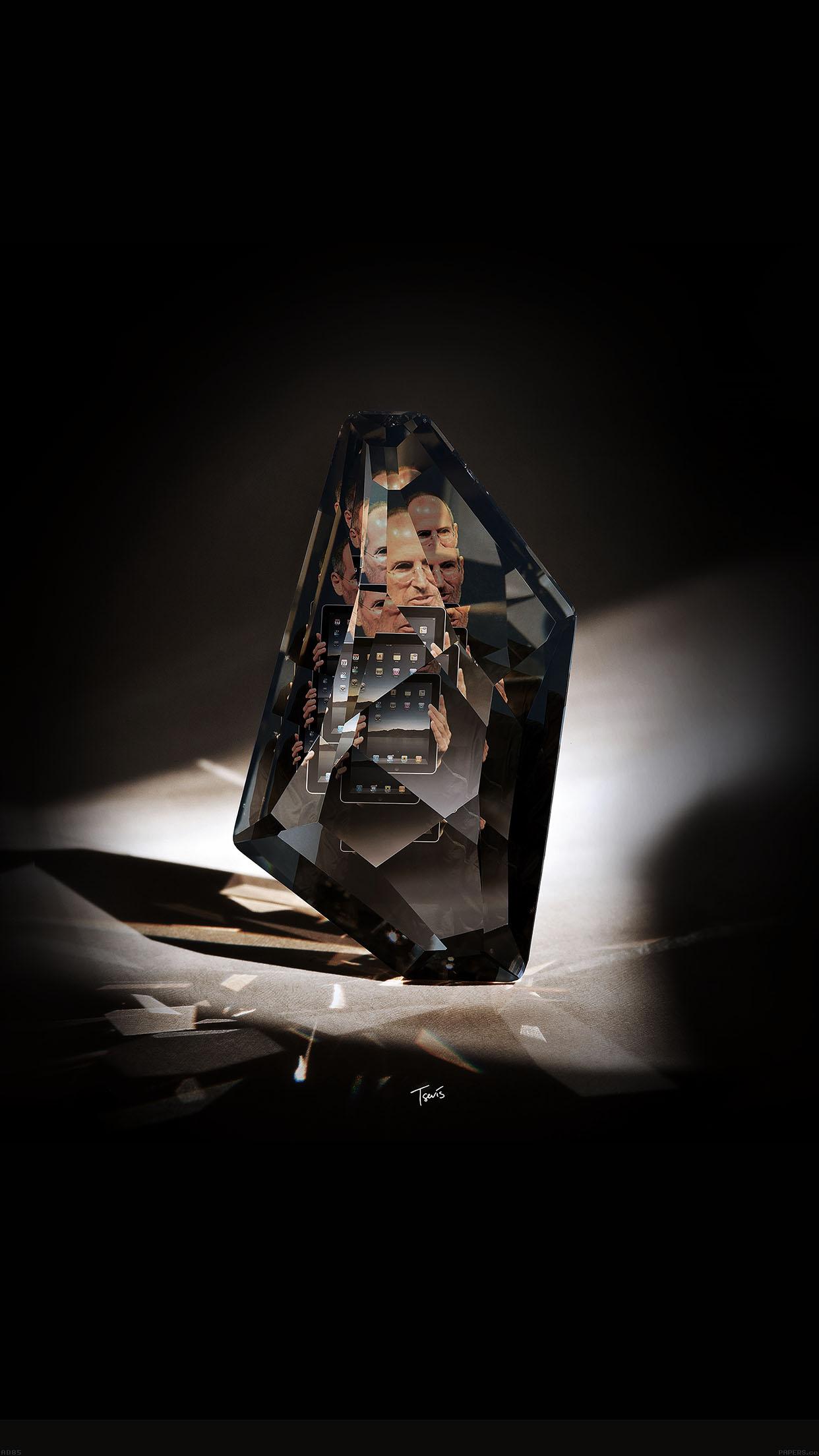 Iphone7papers Ad85 Steve Jobs Diamond Art Apple Ios8