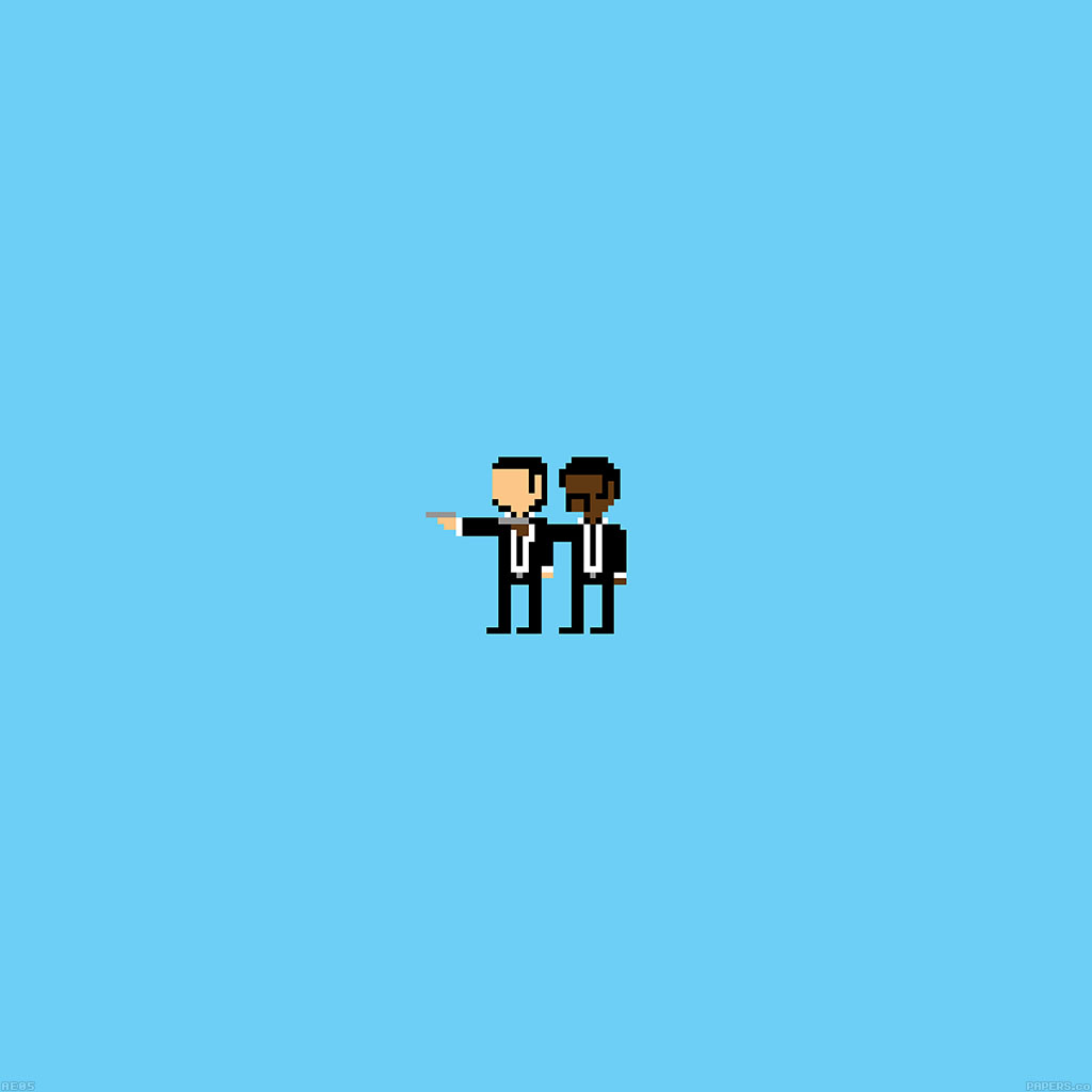 Papers Co Android Wallpaper Ae05 Pulp Fiction Pixel Art Illust