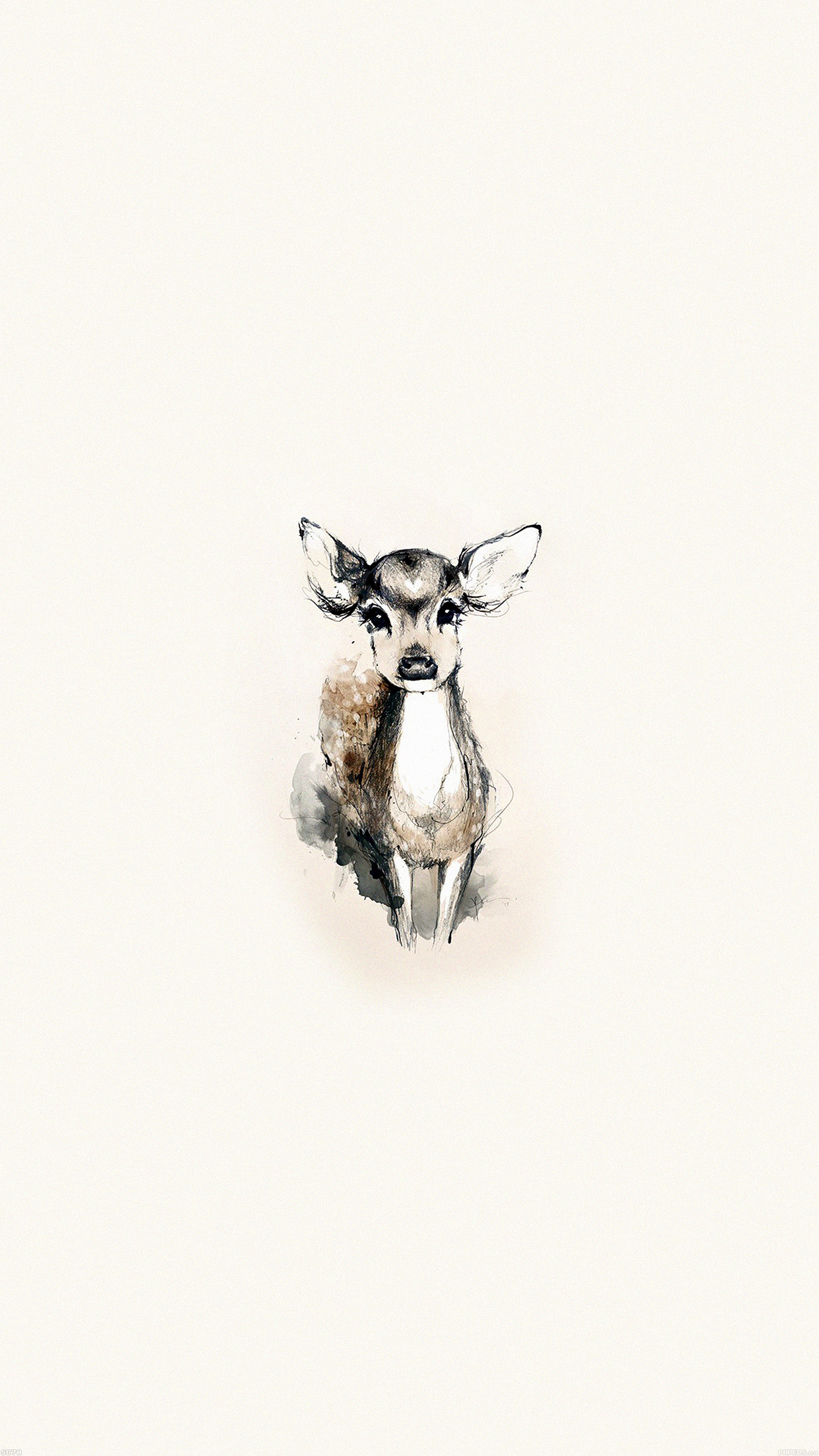 Ae07 tiny deer illust art - Classic art wallpaper iphone 5 ...