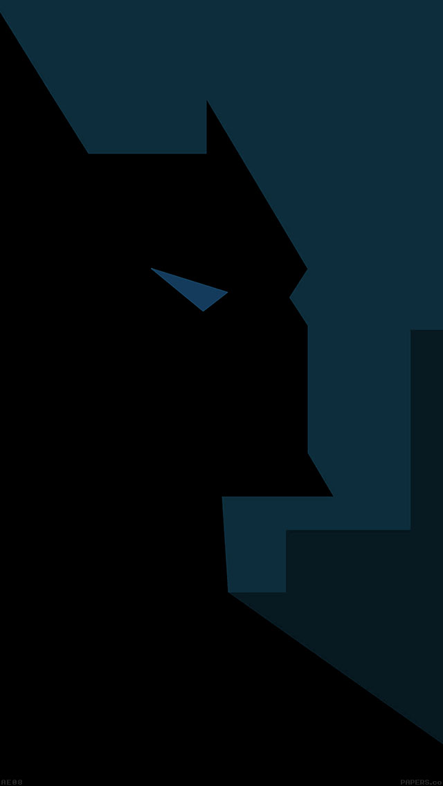 freeios8.com-iphone-4-5-6-ipad-ios8-ae08-batman-blue-minimal-illust-art-hero