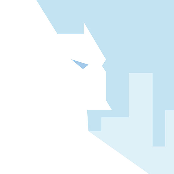 Ae09 batman white minimal illust art hero for Minimal art hero