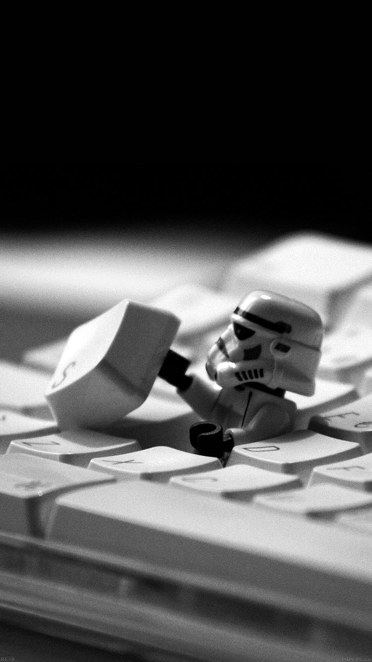 Papers.co-iPhone5-iphone6-plus-wallpaper-ae10-storm-trooper-starwars-keyboard-film