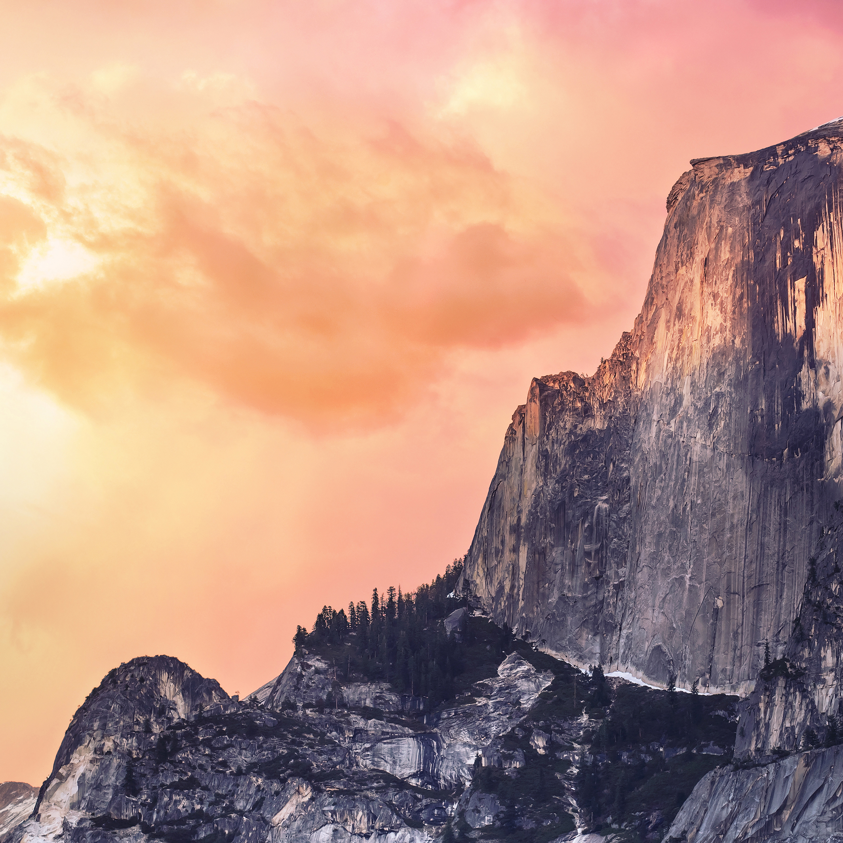 Papersco Ipad Wallpaper Ae31 Yosemite Red Sunset Mac